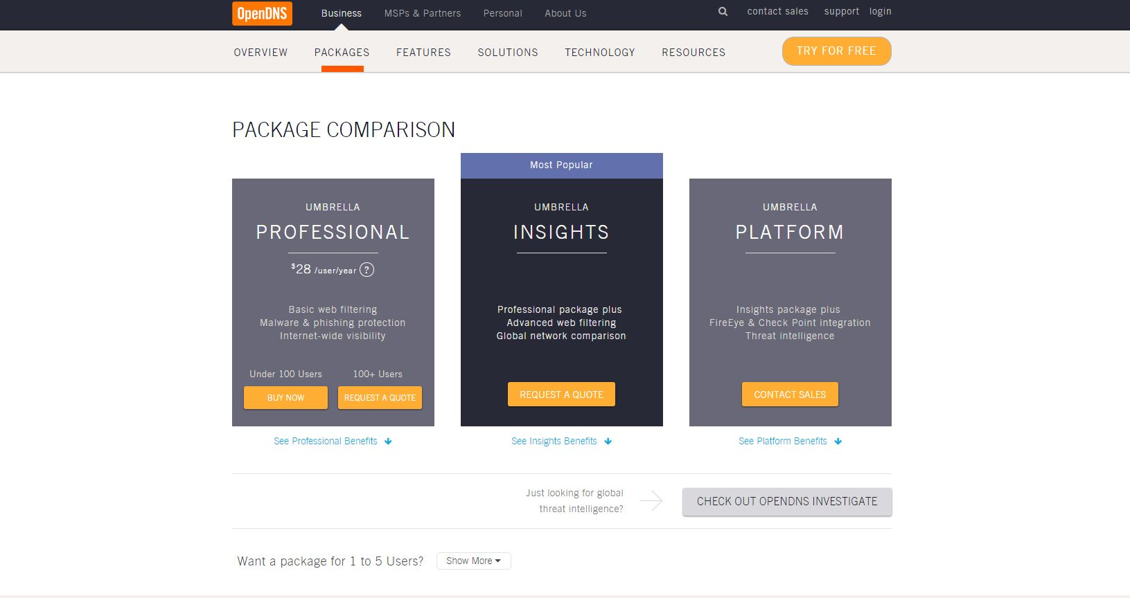 OpenDNS is Free for Home use and offers Business Grade security that is in budget.