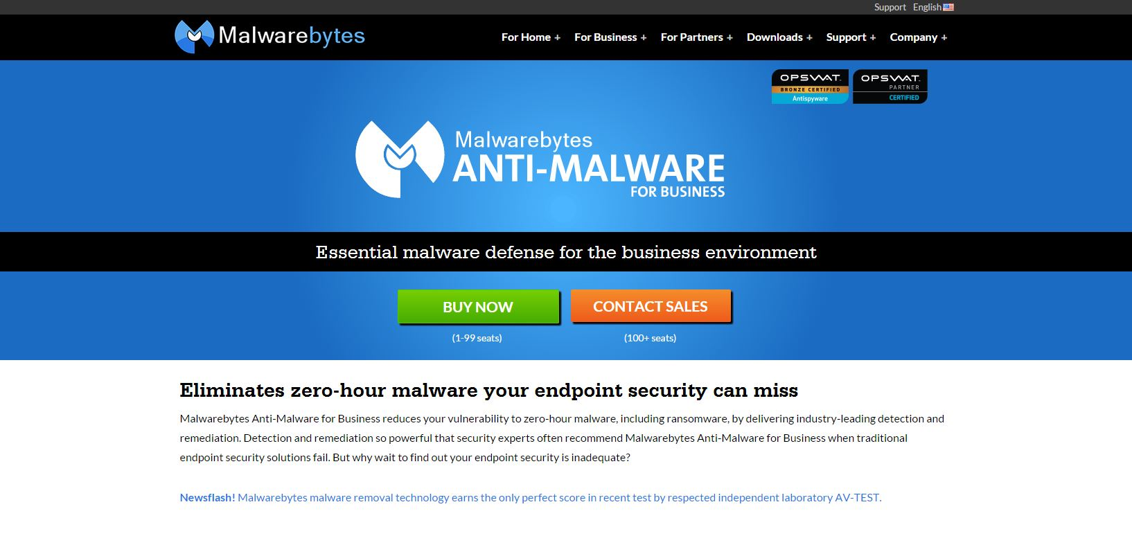 Malwarebytes Free for Home use offers Business Grade Protection as well.