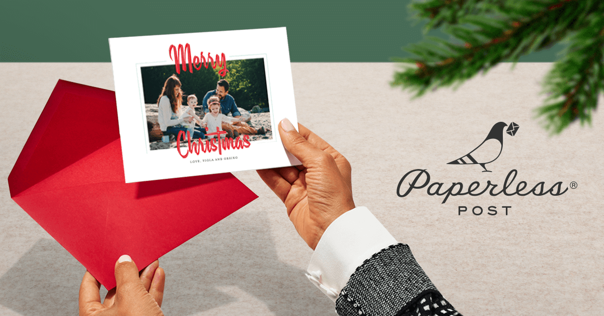 2016 Holiday campaign.   Holiday cards with all the trimmings—for free.