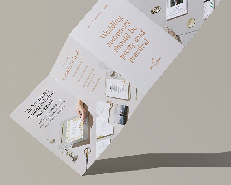 2017 Wedding campaign.   Wedding stationery that's pretty  and  practical.