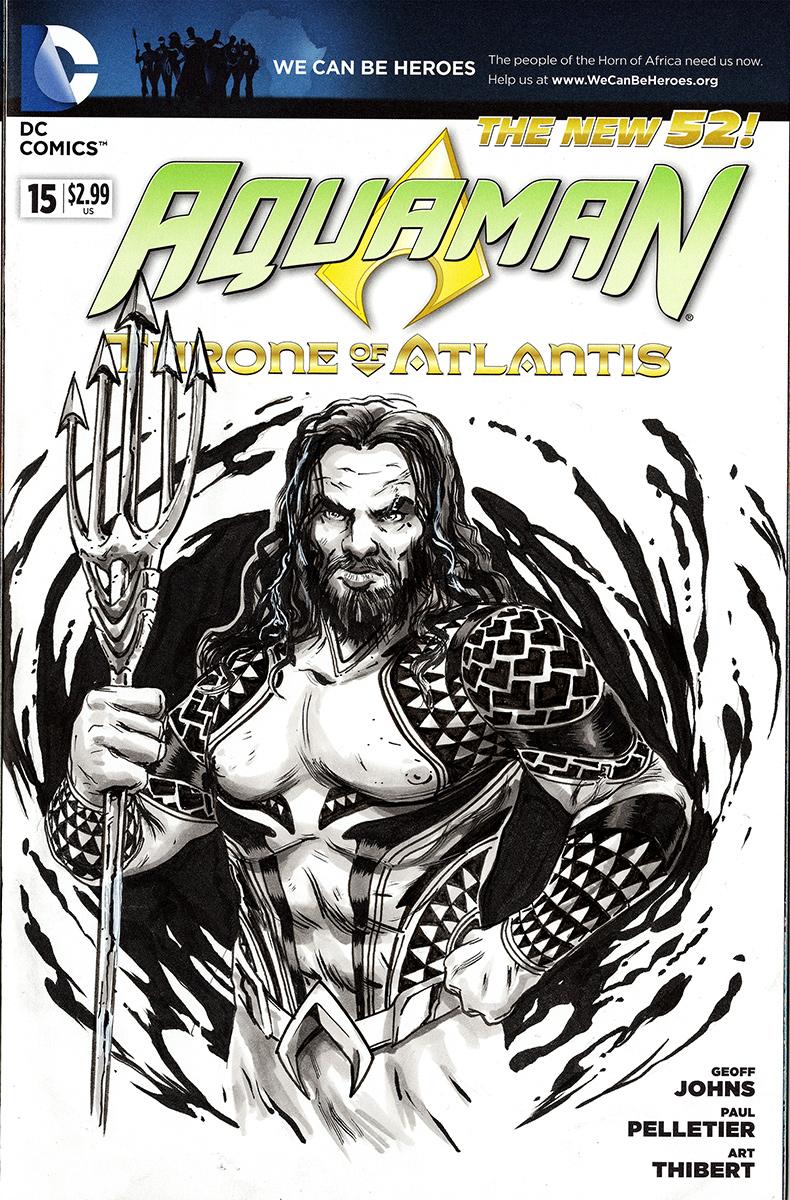 Aquaman Comic Sketch Cover 02