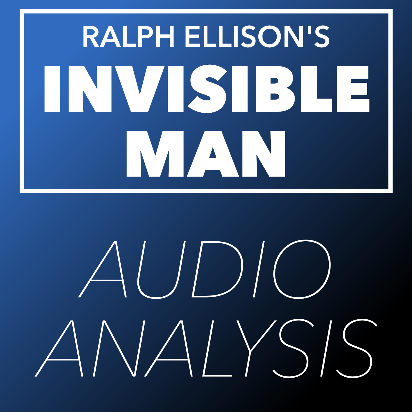 Invisible Man (Audio Analysis) - This is an experimental project I did for an English class in lieu of a traditional paper. I orally analyzed and explored themes of American contradiction in Ralph Ellison's seminal text Invisible Man.Sources Used:-Invisible Man version used- HuffPost Report on Stephon Clark Shooting - USA Today Recording of President Trump Responding to Charlottesville- Marvel's Black Panther Official Trailer- Television Interview with Ralph Ellison (1966)-Background Music - Pray For Me (The Weeknd, Kendrick Lamar) Piano Cover by The Theorist - Background Music - Starboy (The Weeknd) Piano Cover by The Theorist - Background Music - Redbone (Childish Gambino) Piano Cover by The Theorist