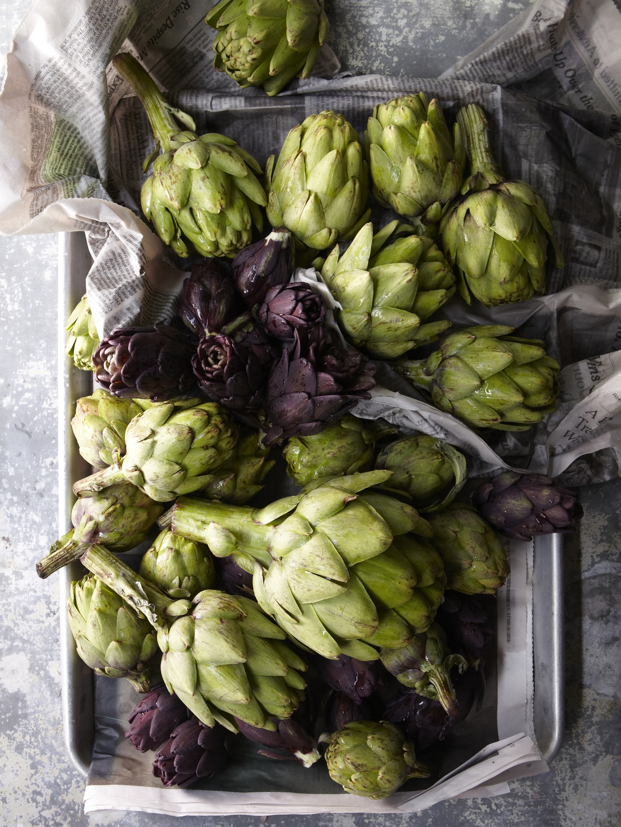 Fresh artichokes at Via Carota, where cherished downtown chefs Jody Williams and Rita Sodi cook deeply appealing Italian food, honoring their local markets and farms from one season to the next.