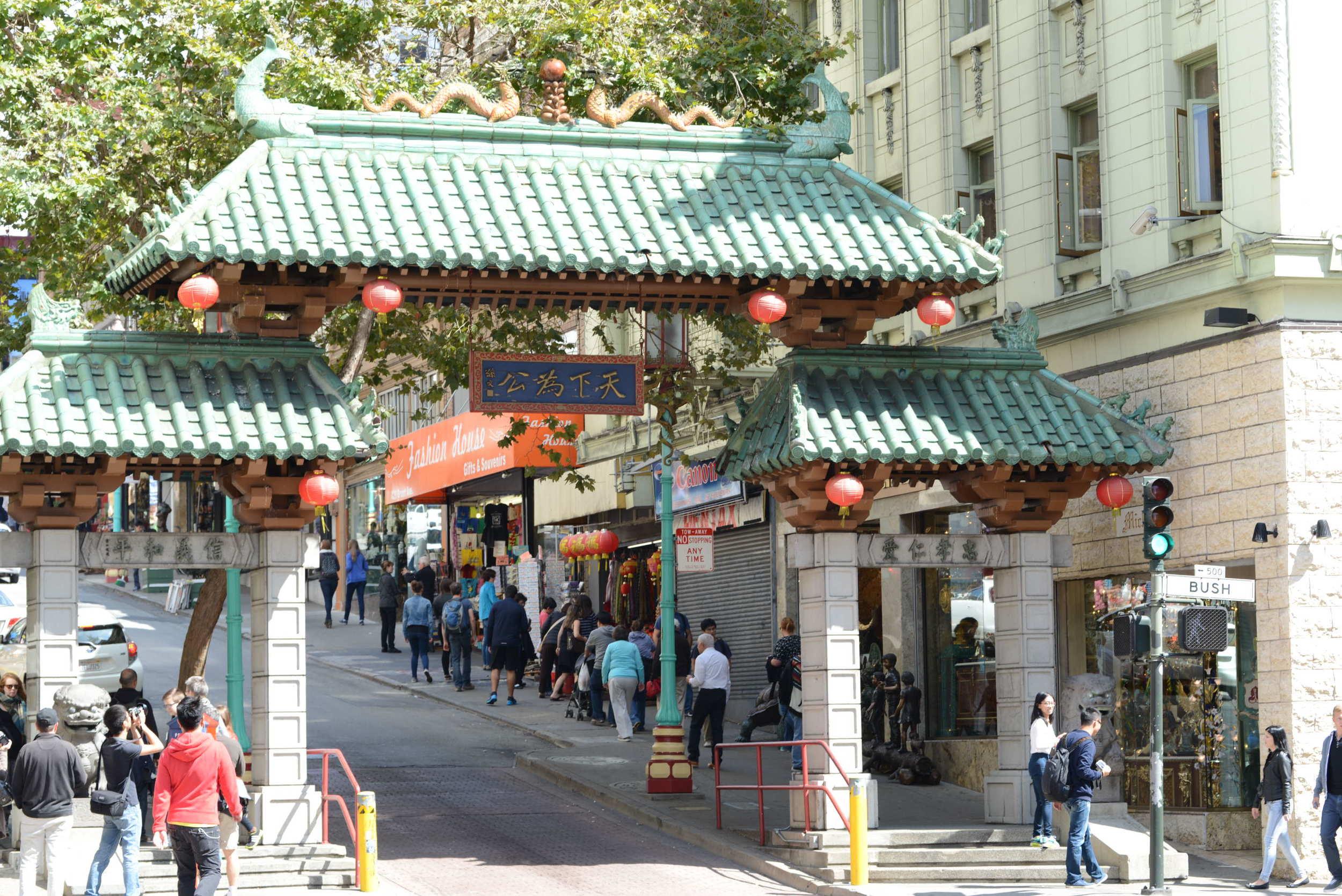 The tour took us through Chinatown.