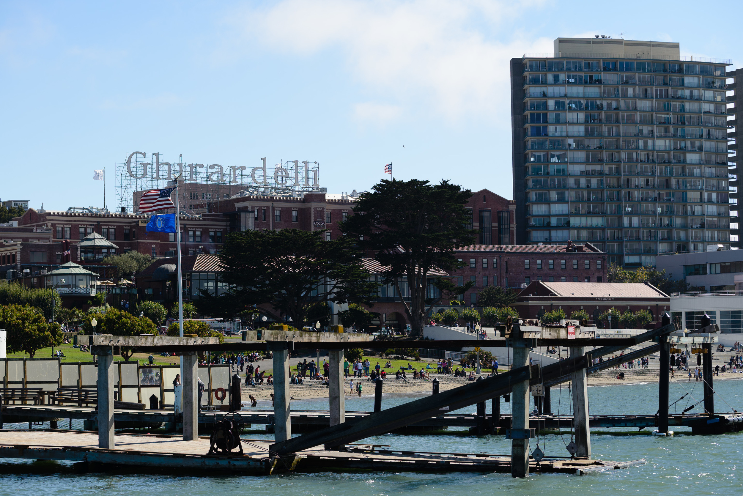 A little rest down by Ghirardelli square.