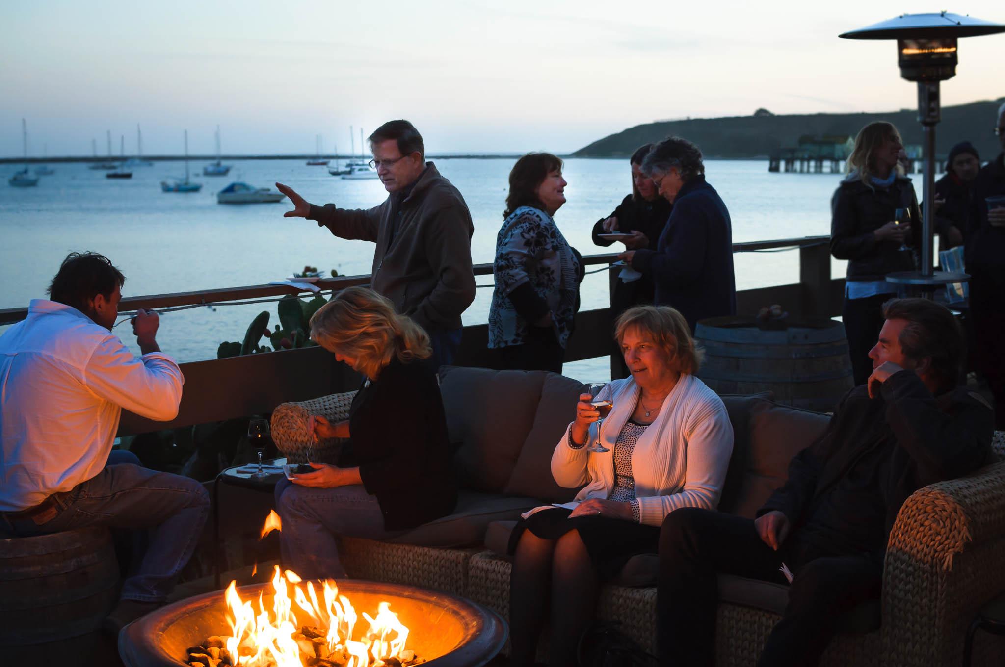 Maverick''s Event Center is tucked away inside Pillar Point Harbor in El Granada. Nice sunset (but cold!)