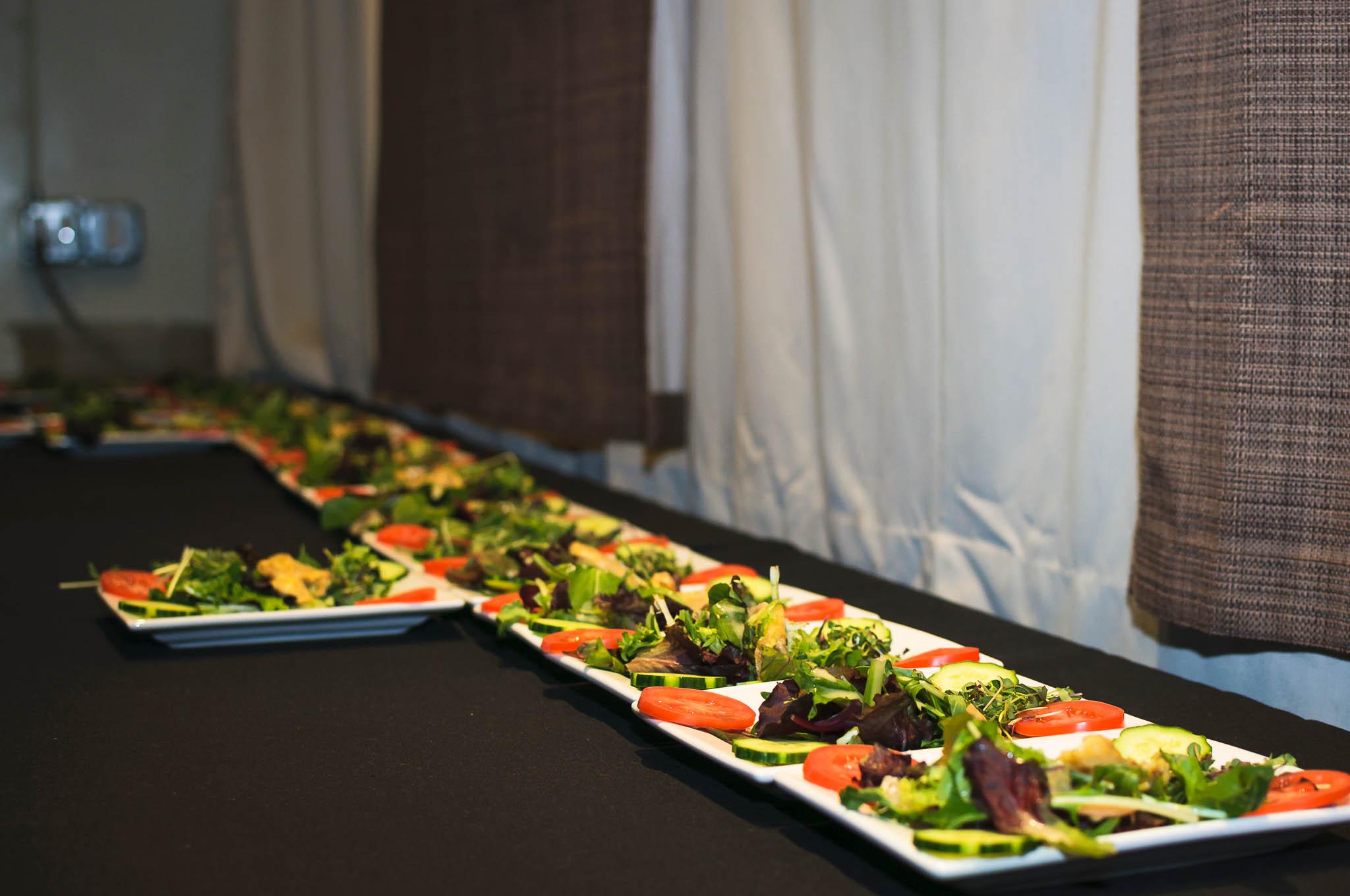 Plates of abalone salad.