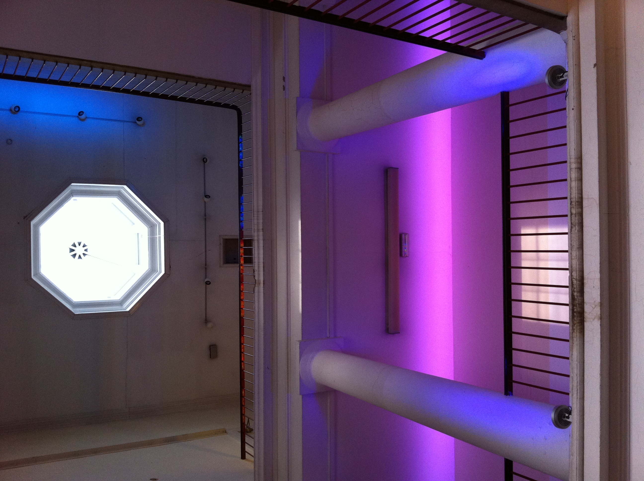 Exhibition and feature lighting was provided and installed by Atrivm lighting
