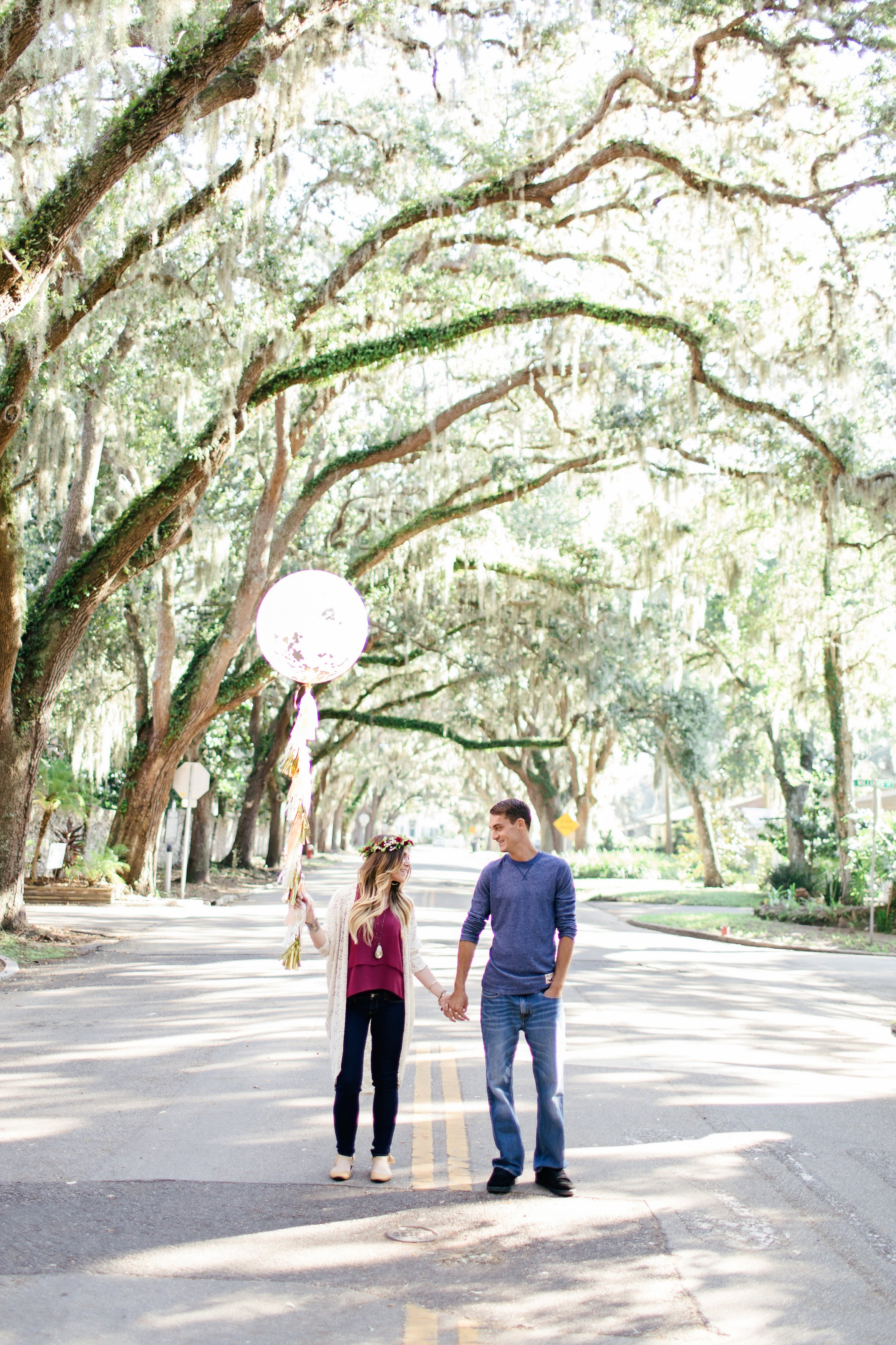 Magnolia Street St. Augustine Engagement Session