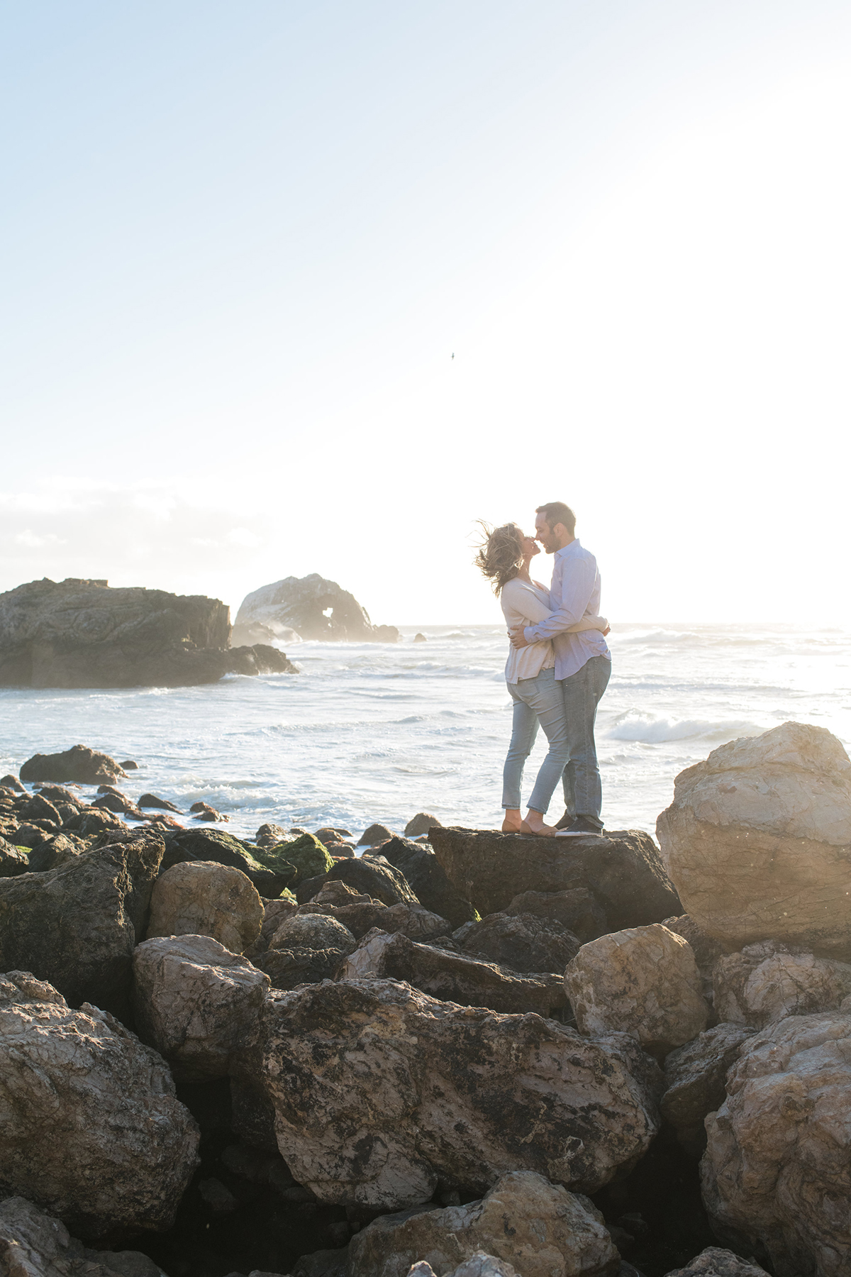 San Francisco Sutro Baths Sunset Engagement Photography | White Quill Creative