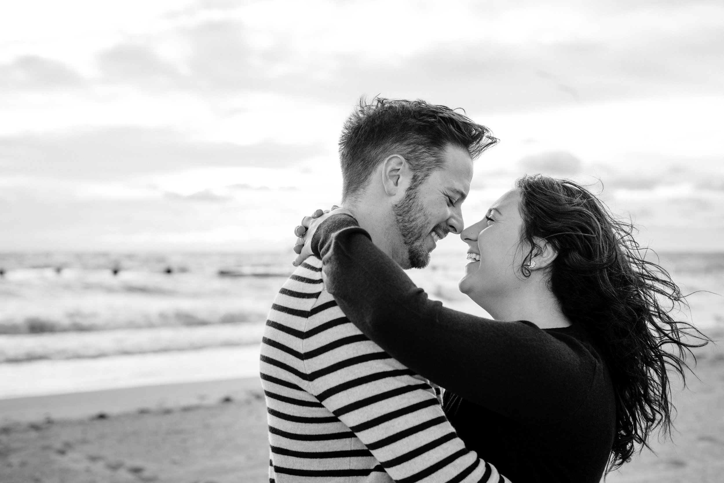 North Avenue Beach Sunrise Engagement Photography