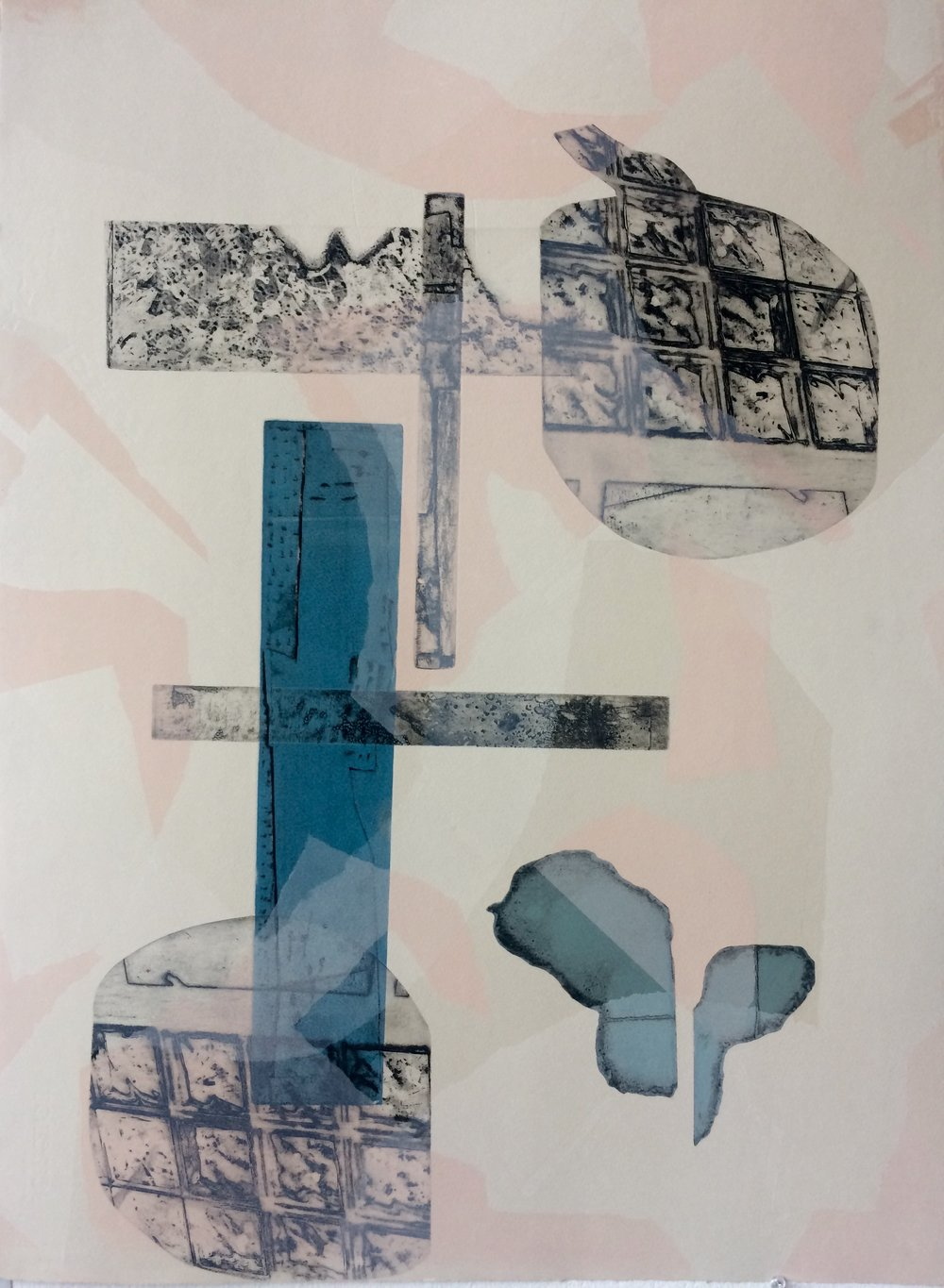 """""""Without Title #1"""" (Intaglio Monoprint)"""