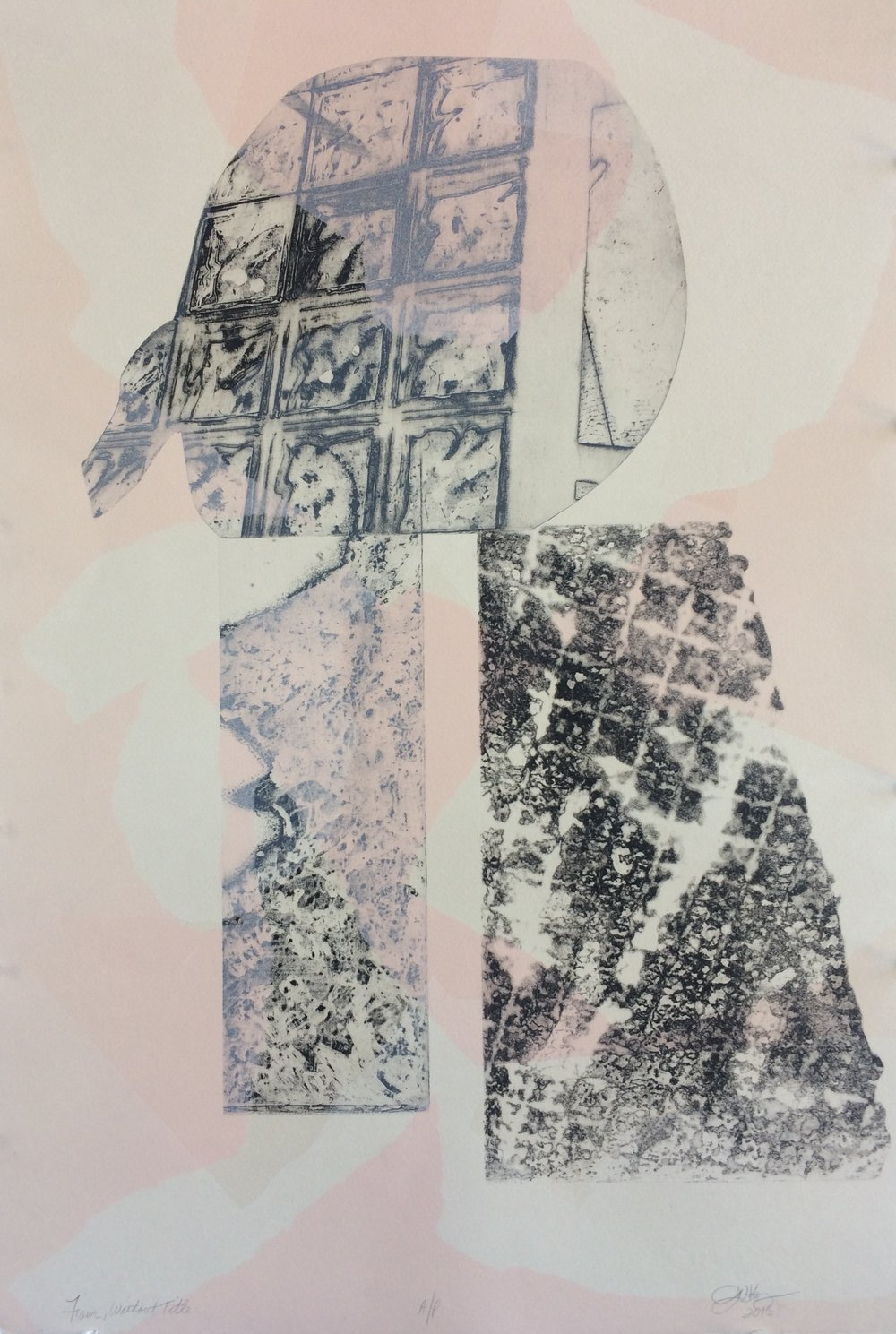 """""""Without Title #2"""" (Intaglio Monoprint)"""