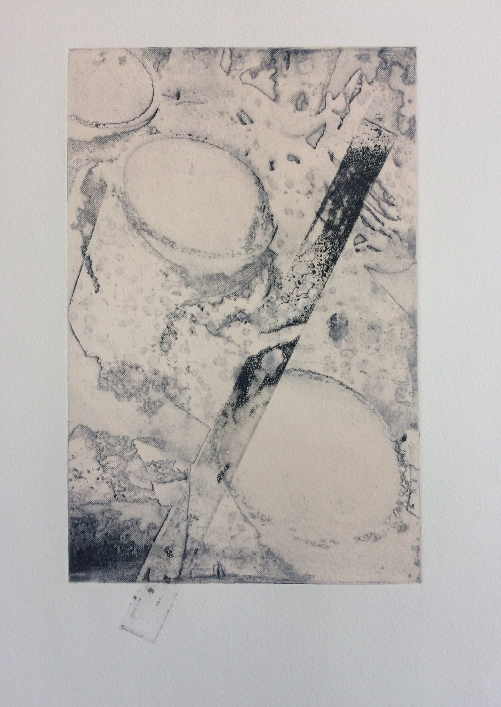 """""""Without Title #3"""" (Intaglio Monoprint)"""