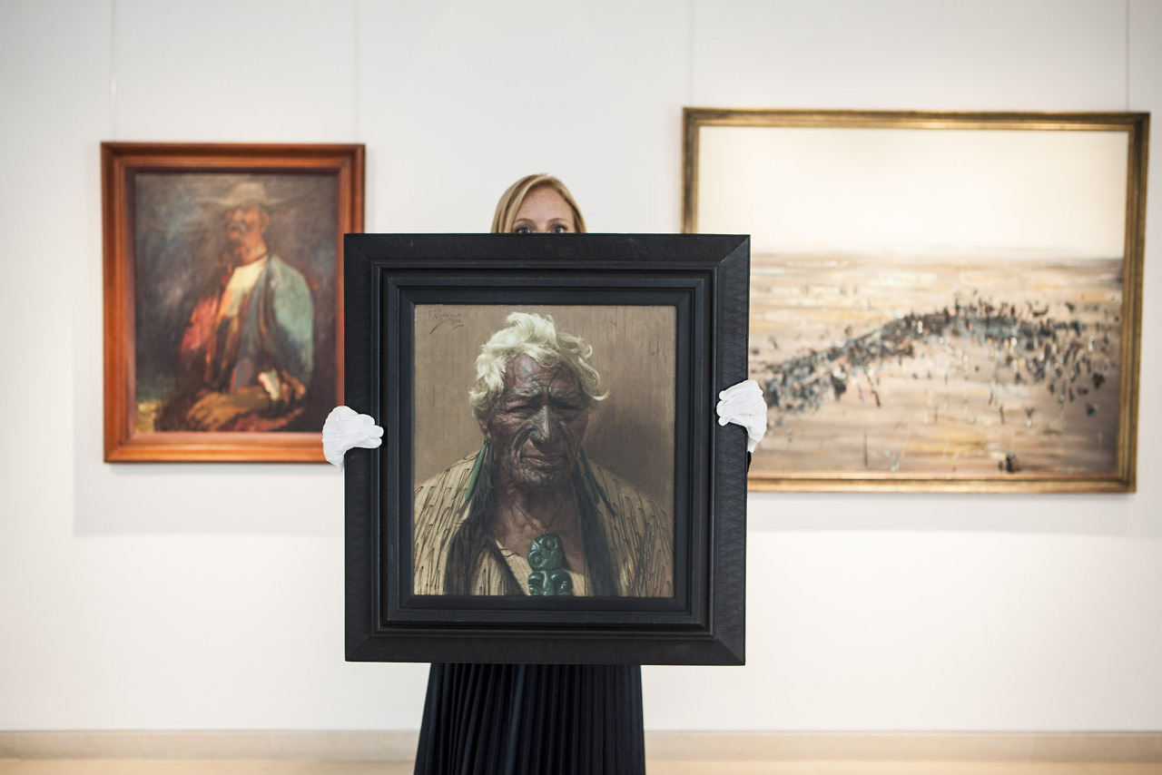 U.K. London - Australian art on display at Christie's auction house.