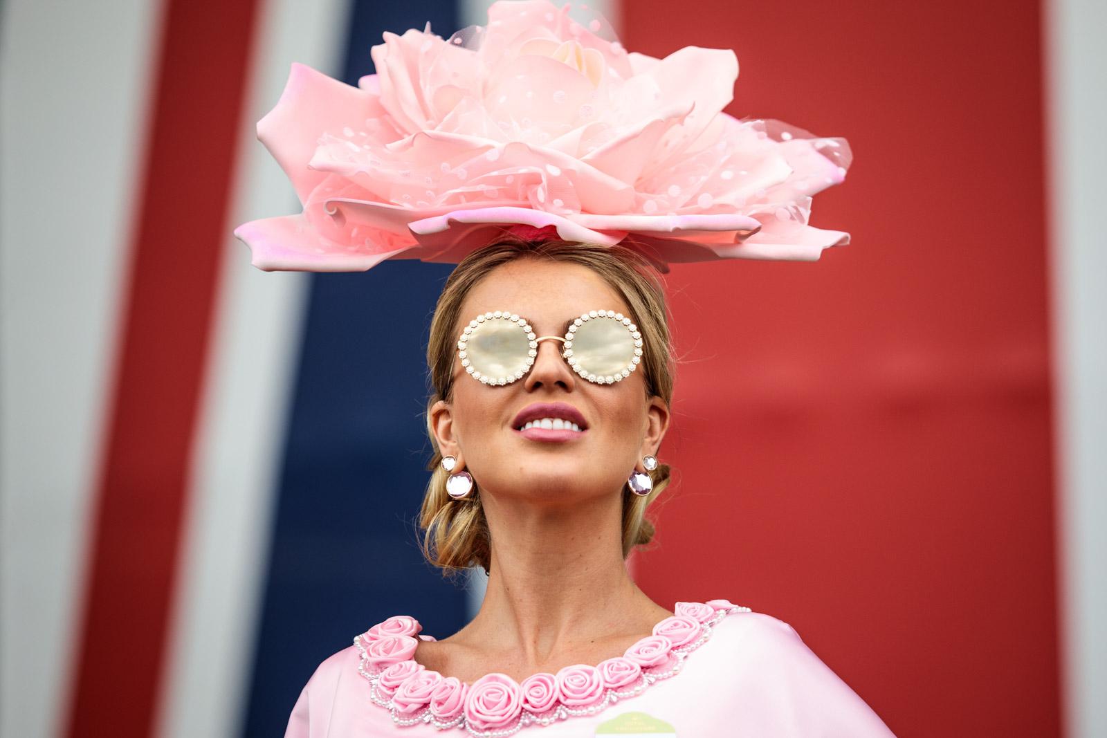 Model Natalia Kapchuk poses for a photograph at Royal Ascot 2017 at Ascot Racecourse on June 22, 2017 in Ascot.