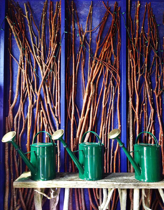 { They find a way to make sticks look so cool. They had these all around the walls.}