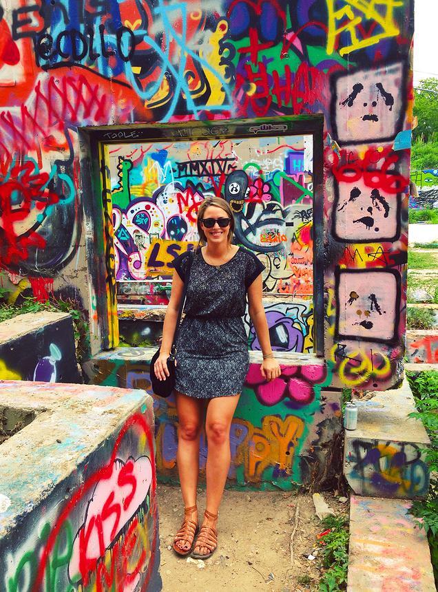 {Baylor Street Art Wall in Austin, TX}