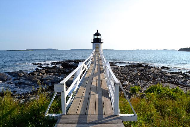 {Marshall Point Lighthouse. More fondly known as the light house Forest Gump runs away to}