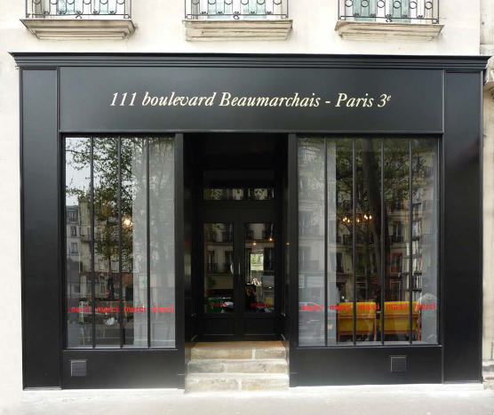 {Merci, located in the Marais}