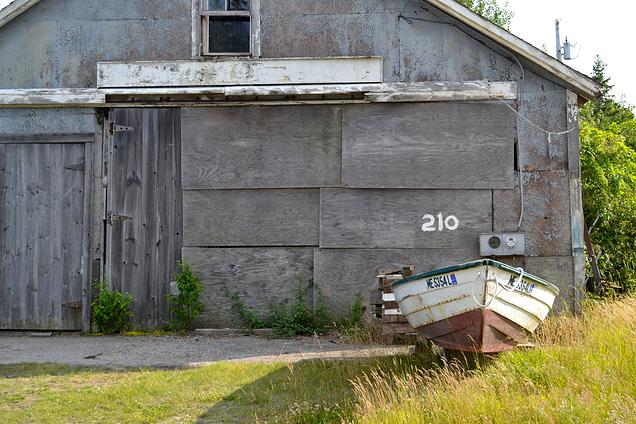 {An abandoned boat}