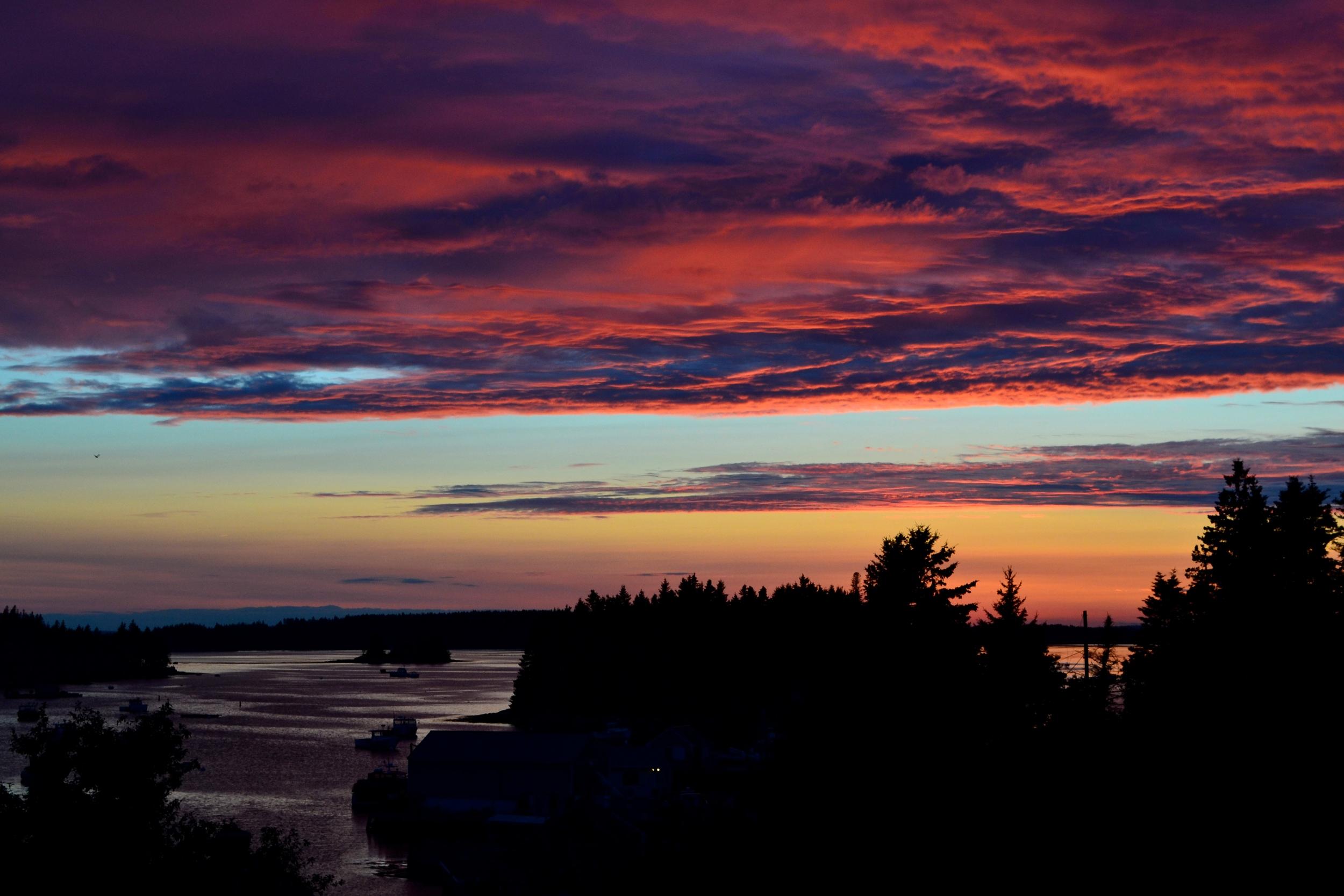 {My last sunset in Maine}