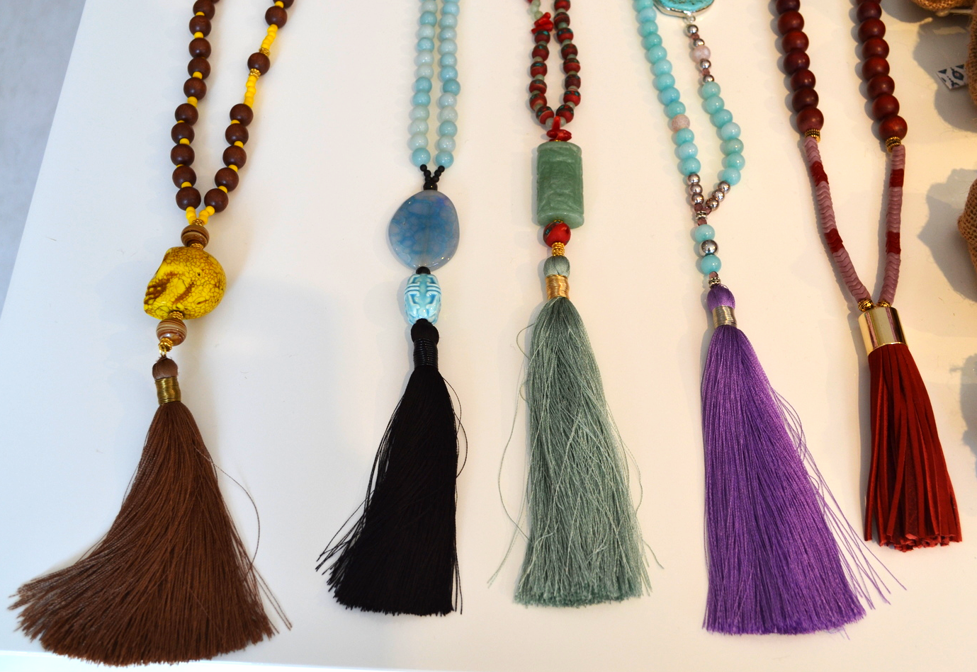 {Some tassel necklaces spotted in ACK}