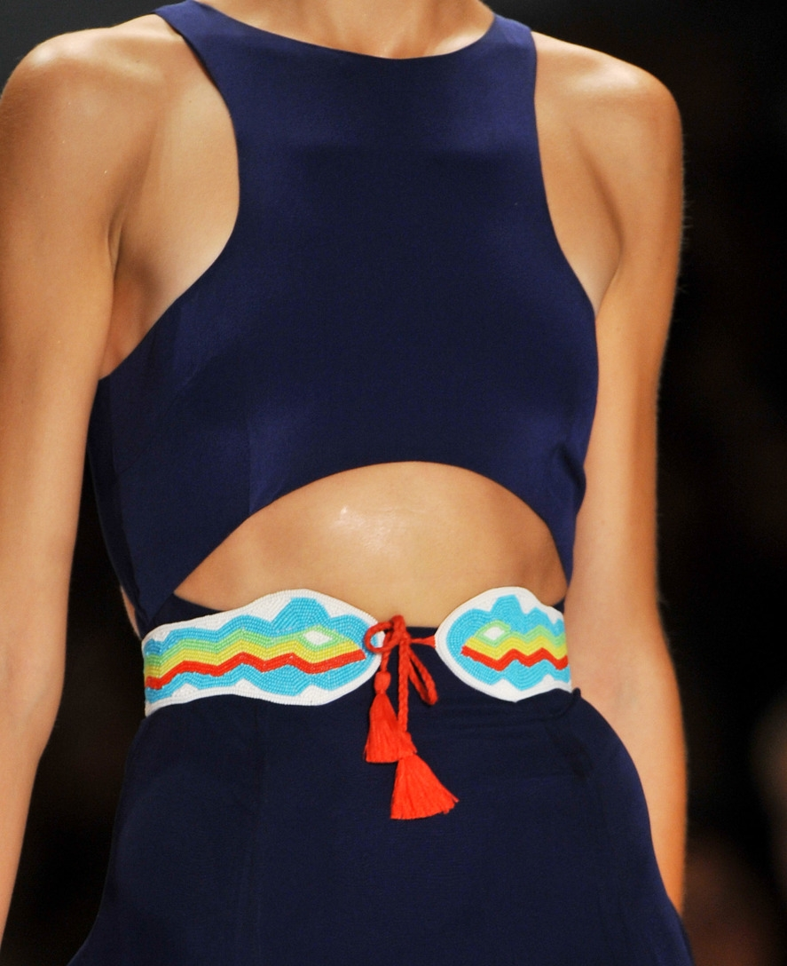 {Mara Hoffman tassel belt. Photo:  Armando Grillo/Imaxtree /Armando Grillo }