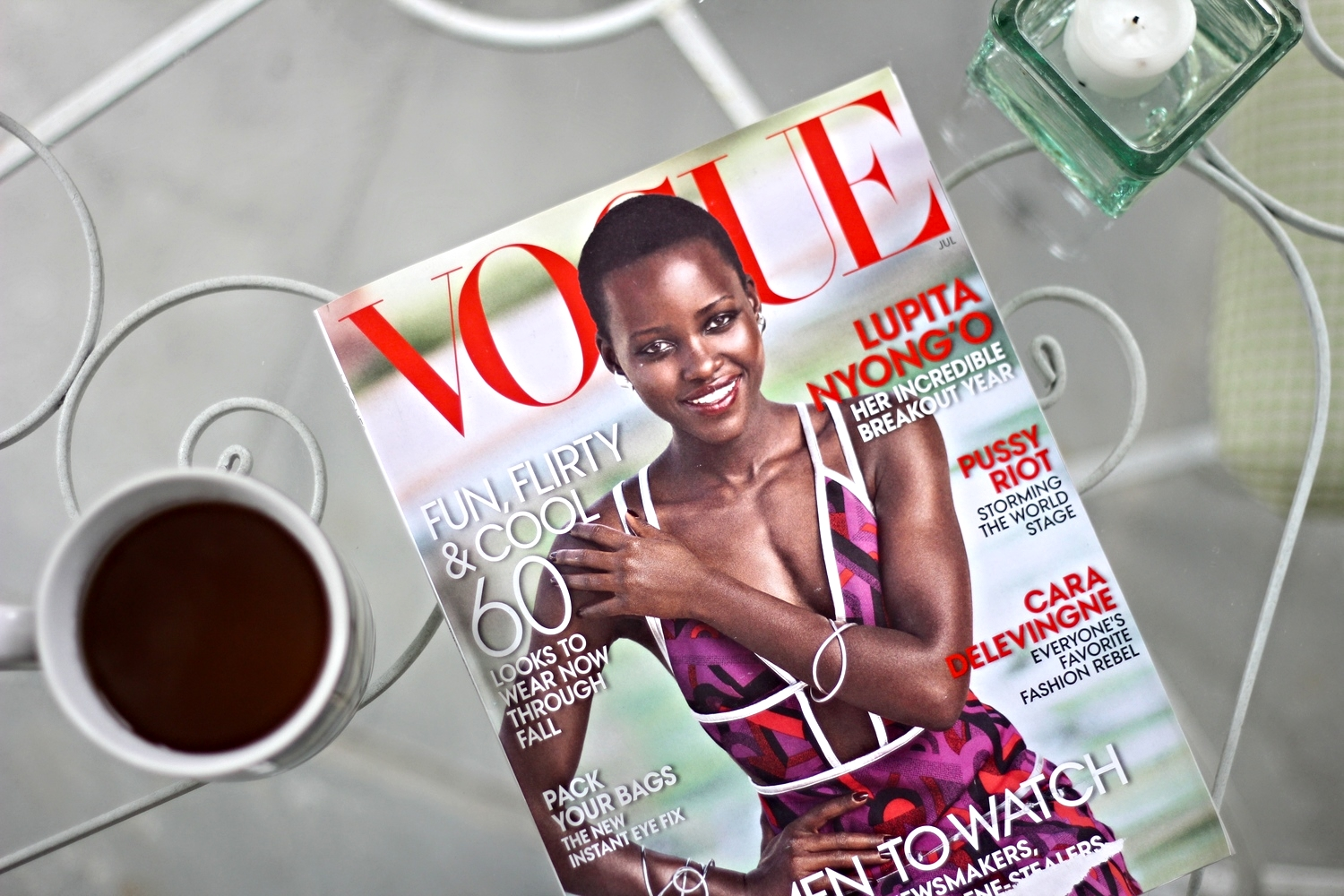 {Catching up on my Vogue subscription after being away all summer}