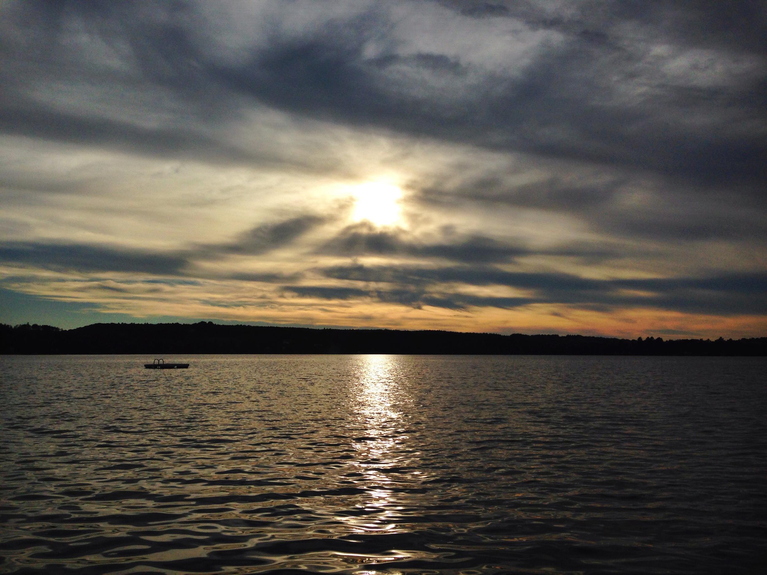 {Beautiful sunset/clouds on Caspian Lake}
