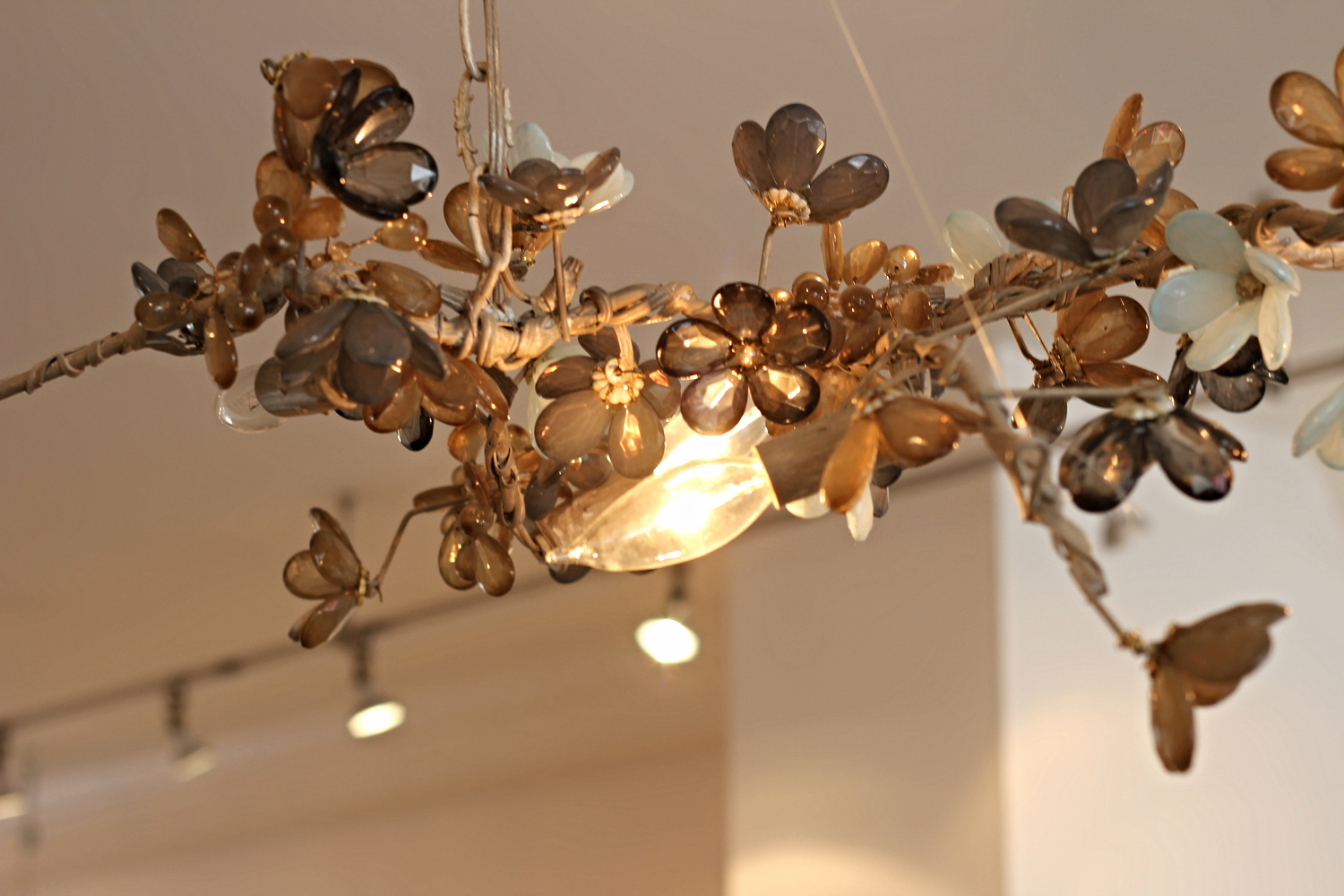 {A pretty light fixture in a boutique in town}