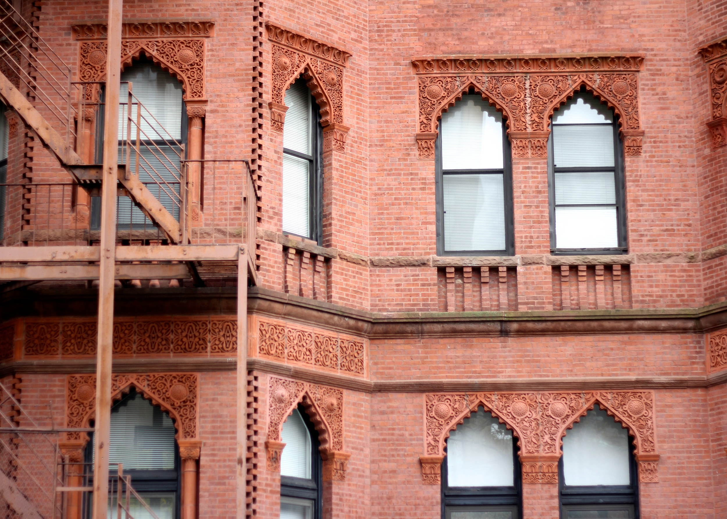 {Architectural details on Newbury St.}