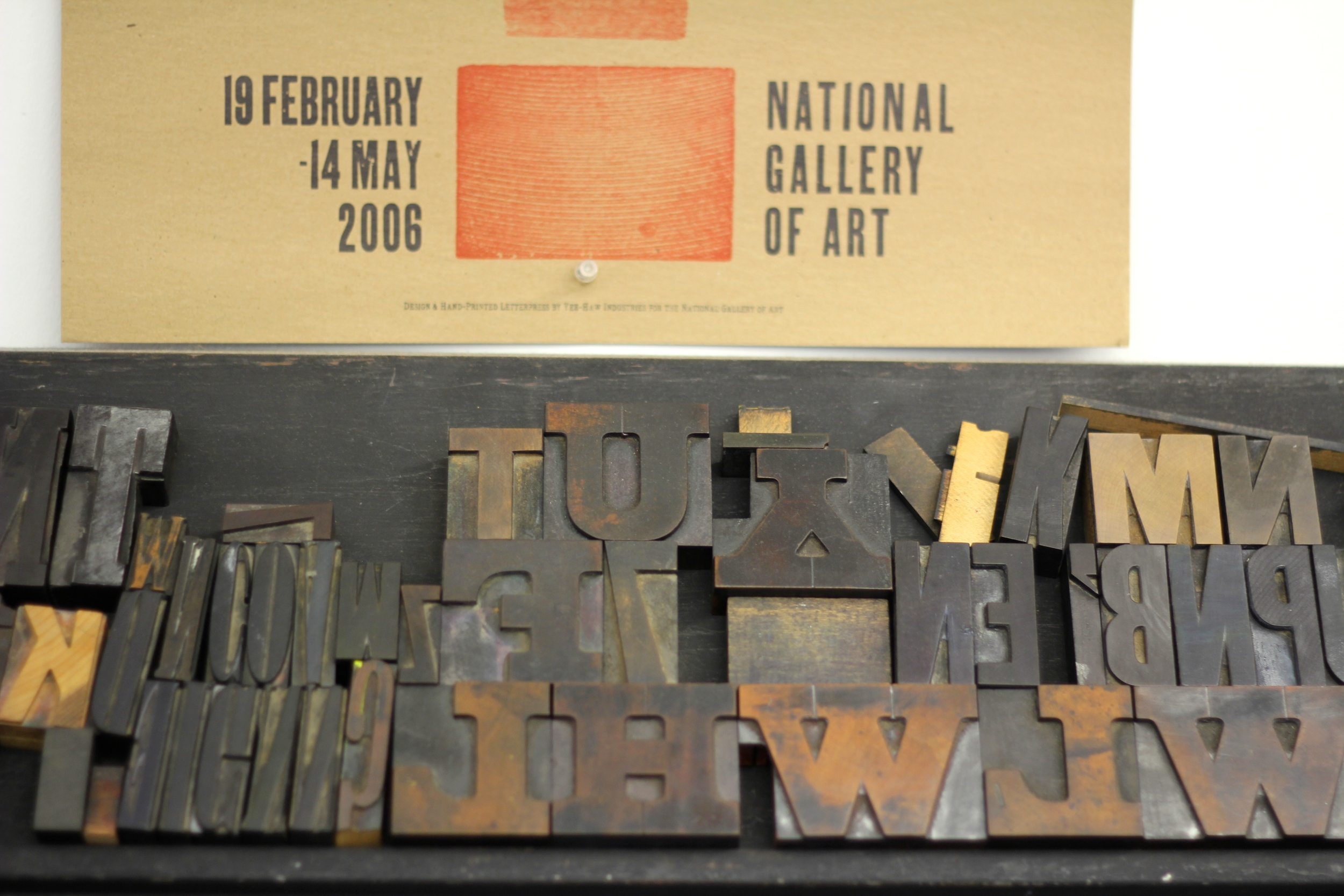 {The type is made of metal or wood - here are some wood pieces}