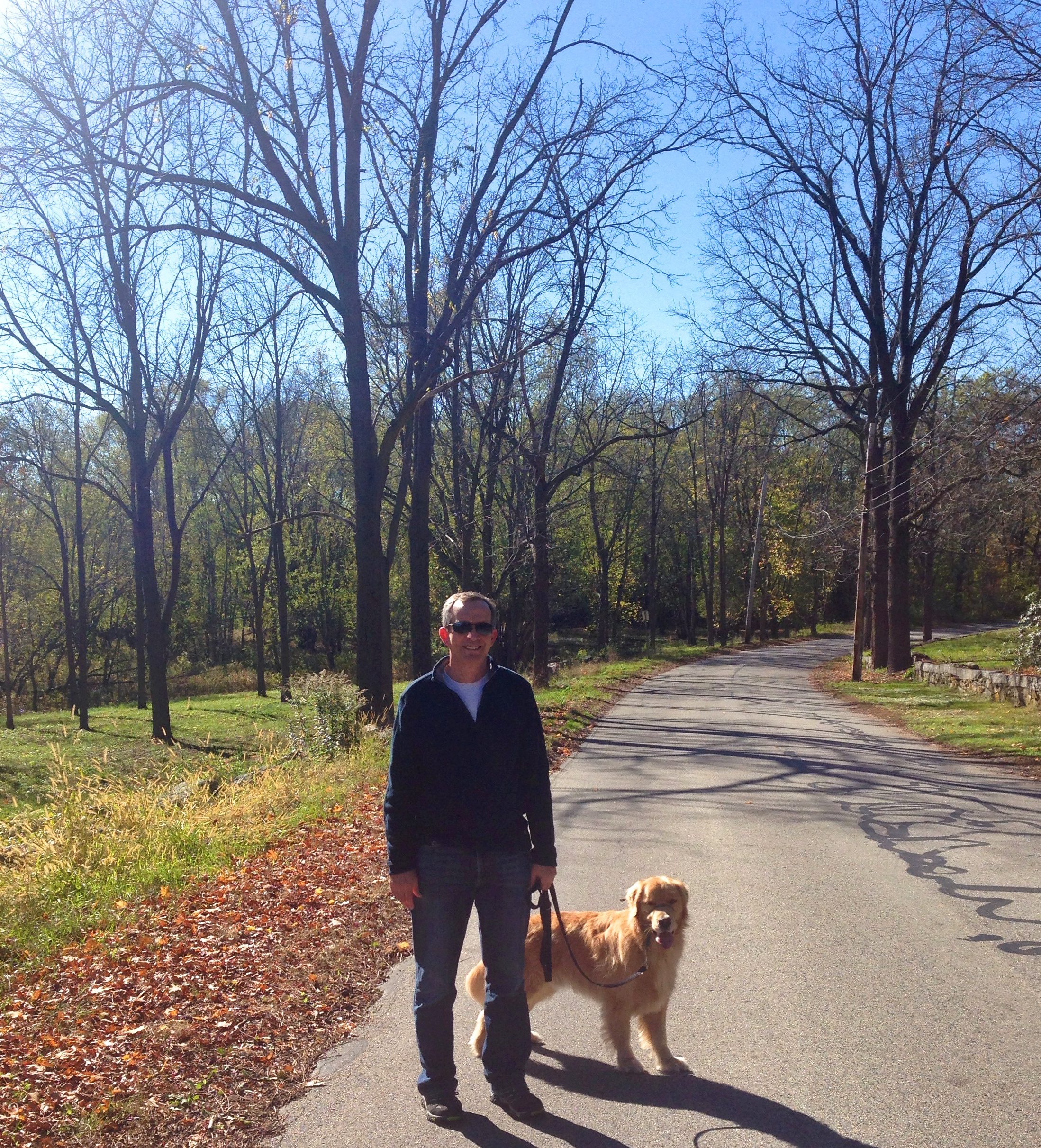 {A great walk with my handsome Dad with my handsome pup this past weekend}