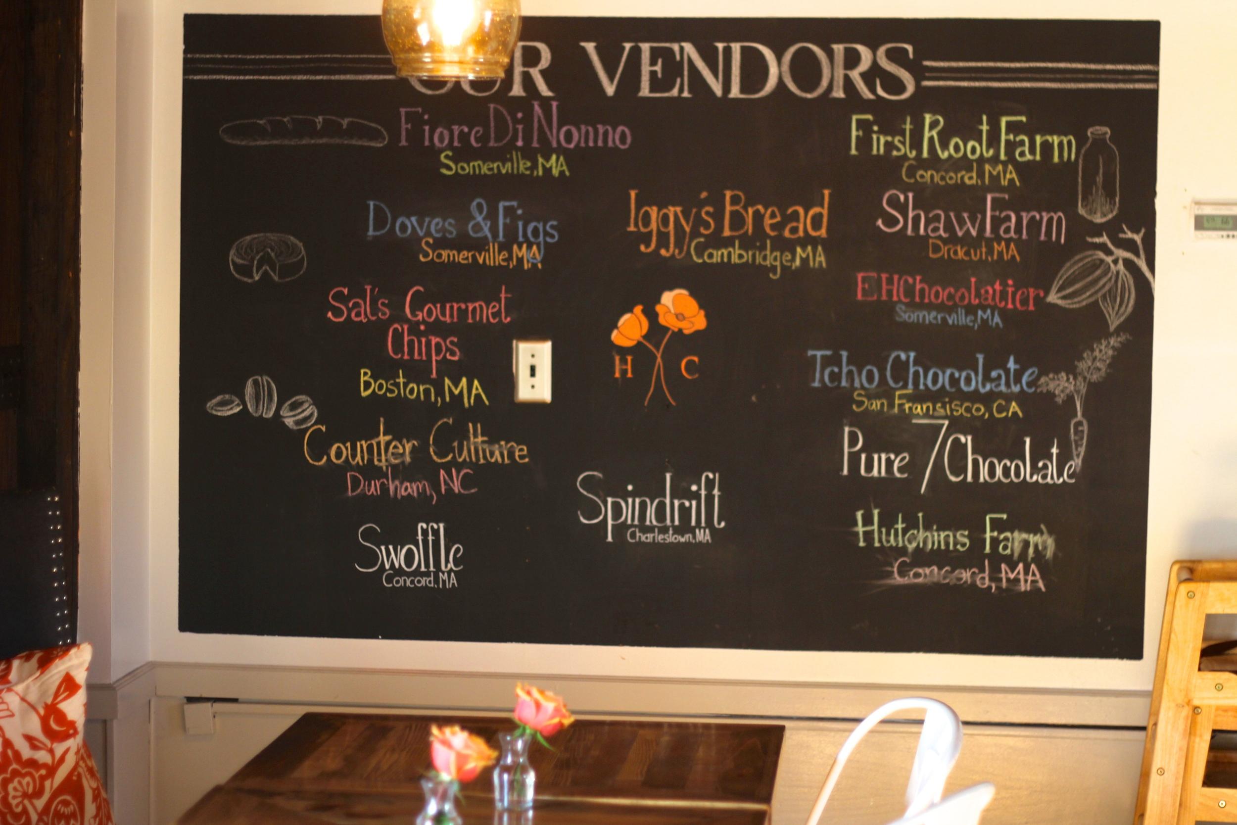 {A list of their vendors}