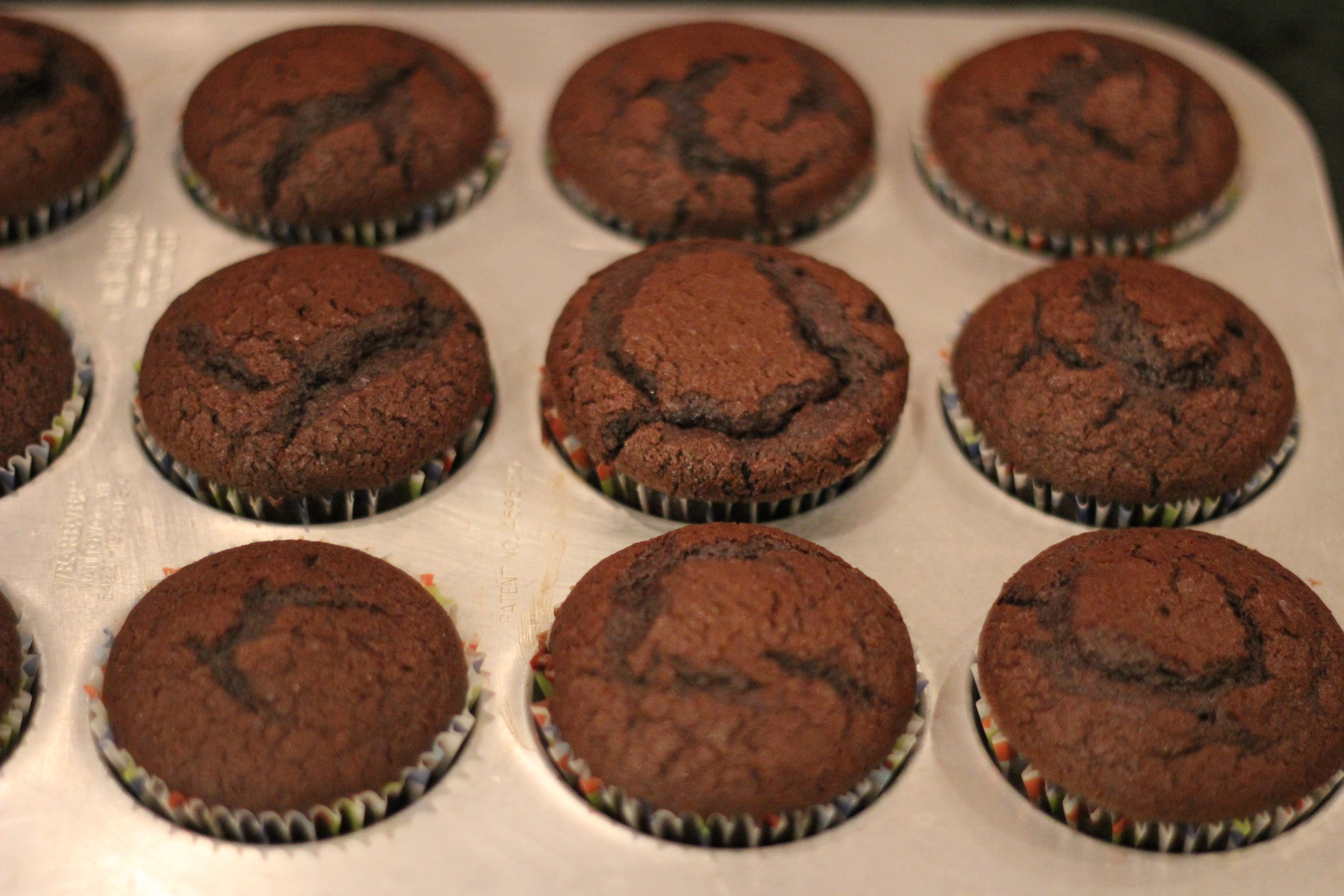 {Making chocolate cupcakes somehow makes the cold less cold}