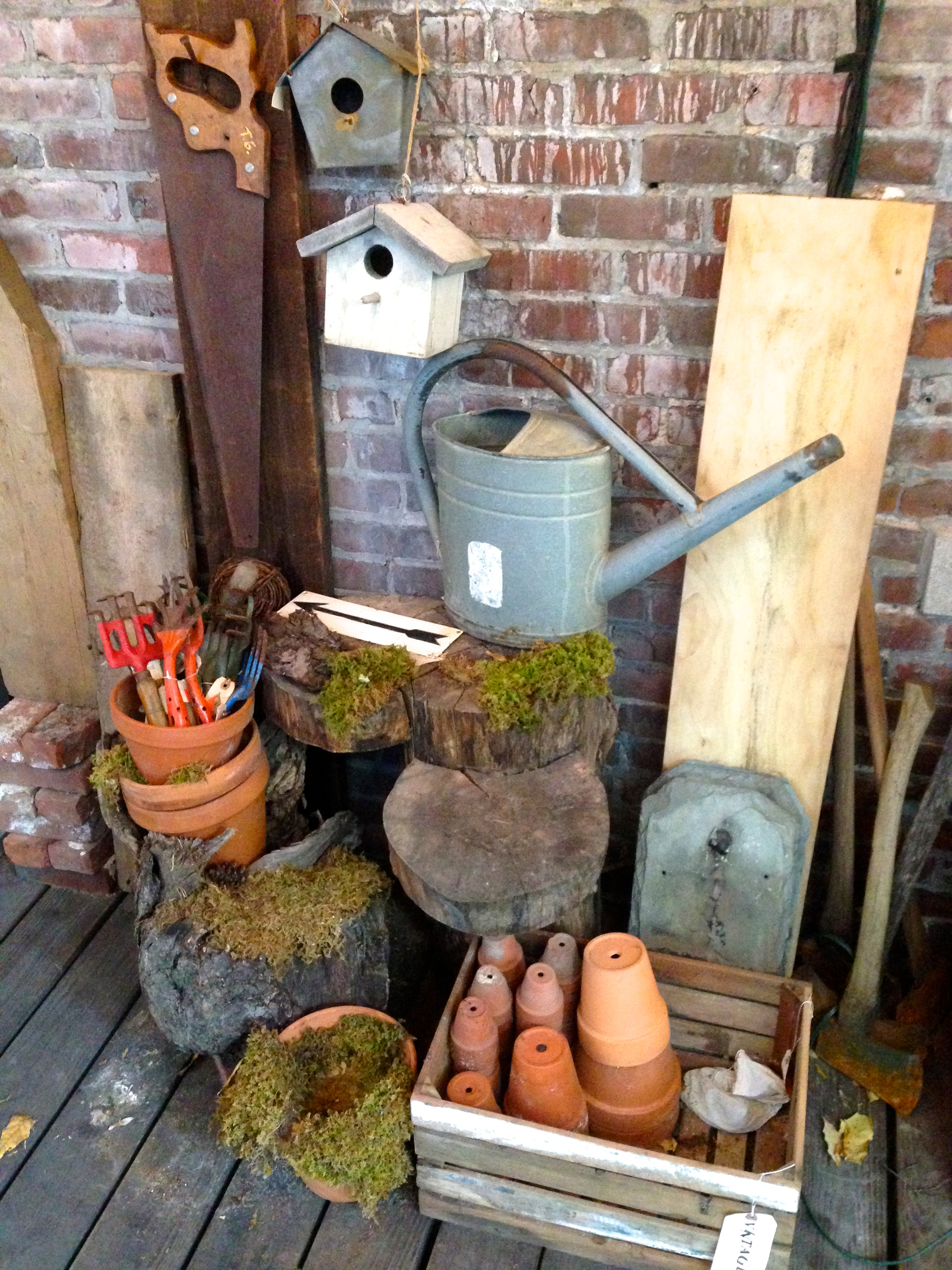 {Display on the porch of a cute shop in Boston}