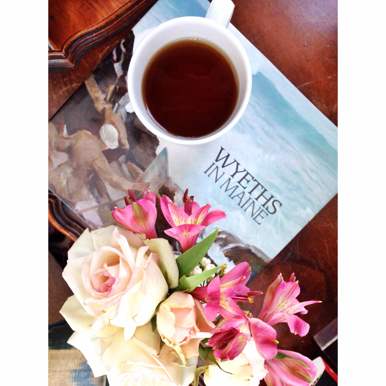 """{Flowers, green tea and """"Wyeth's in Maine"""" make everything better}"""