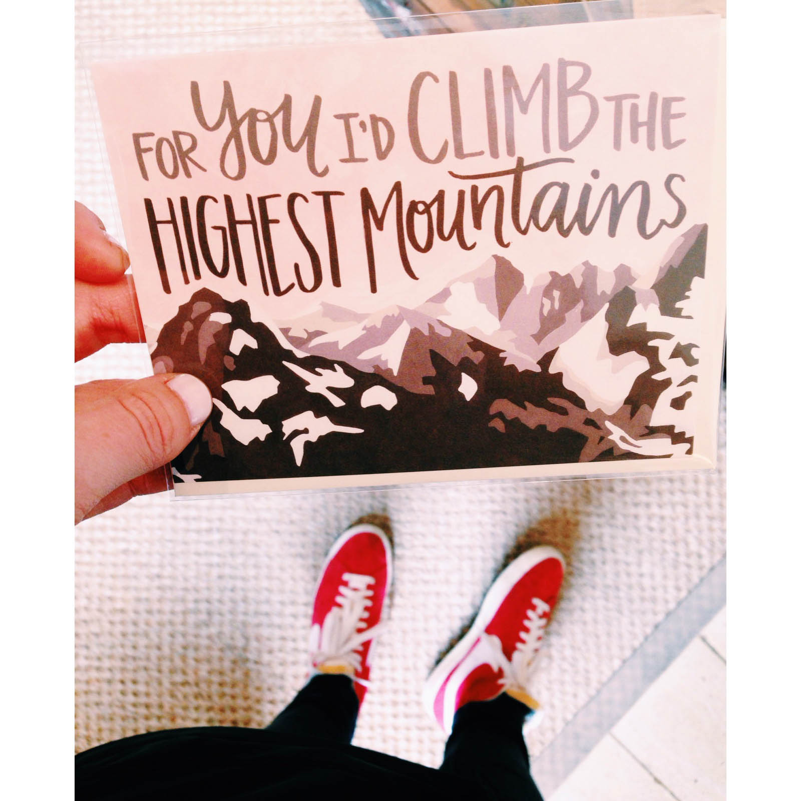 {Stationary and my Nikes-- two of my favorite things}