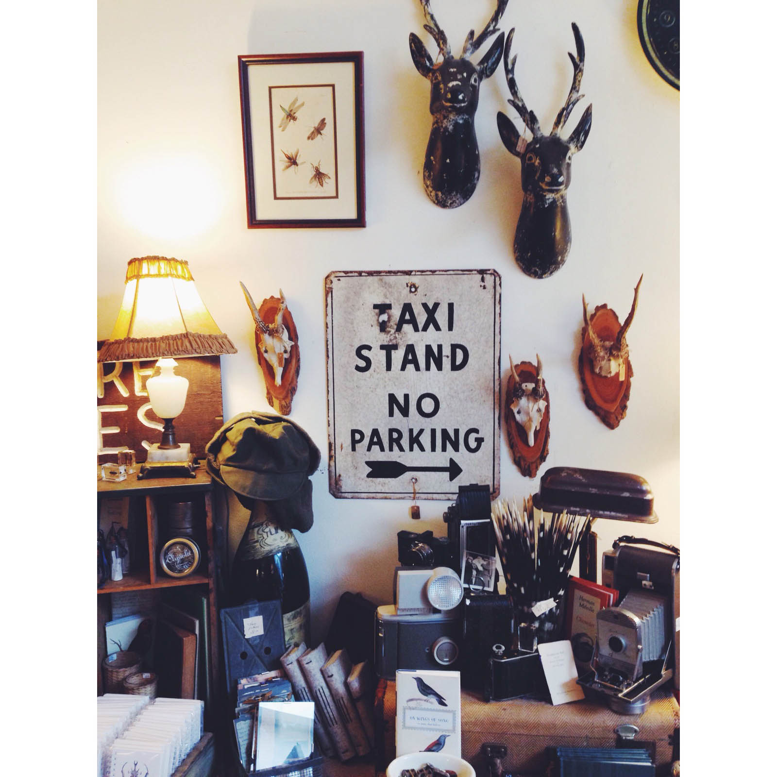 {Pretty vignette in one of my favorite stores, The Nesting}