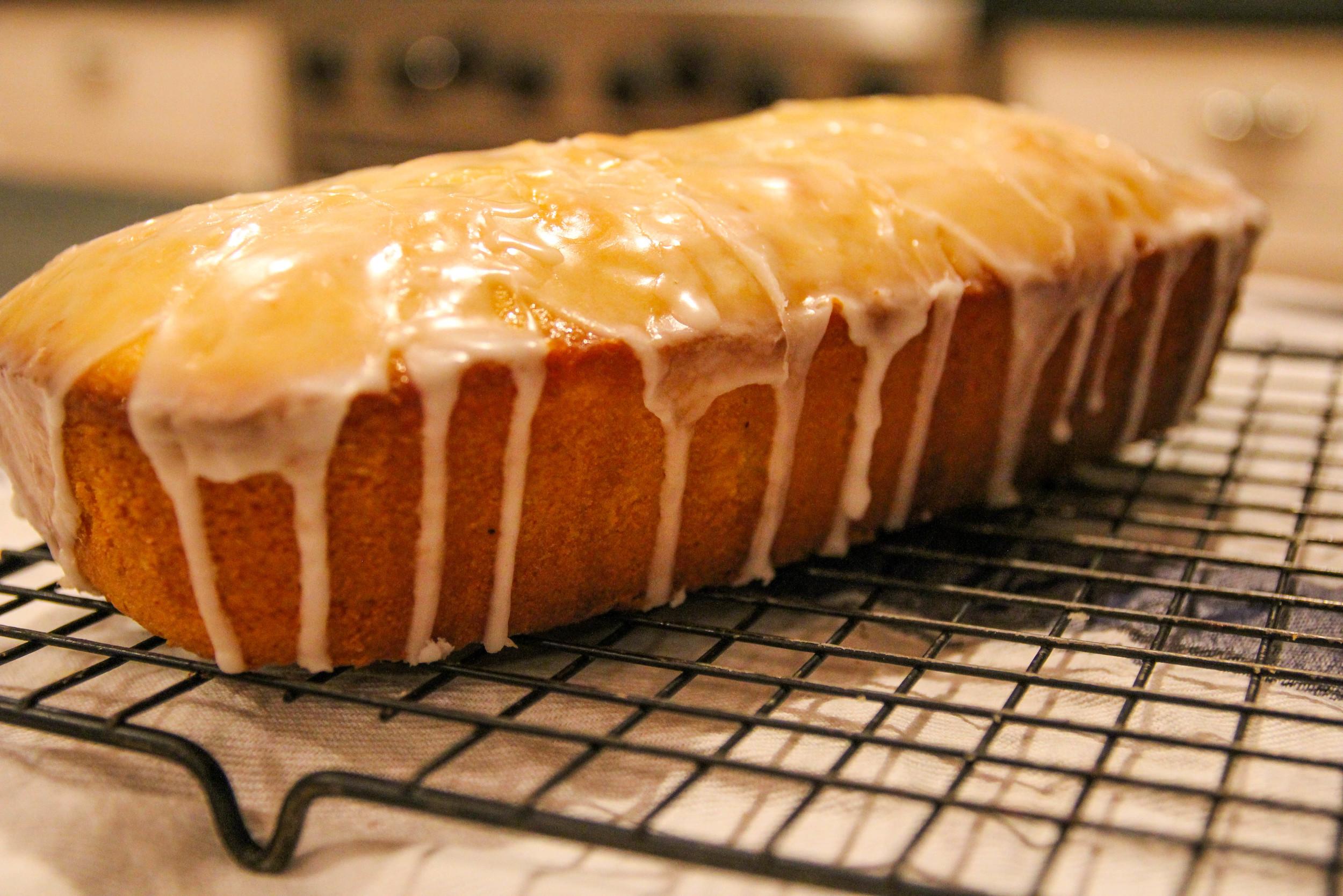 {Whipping up some lemon pound cake}