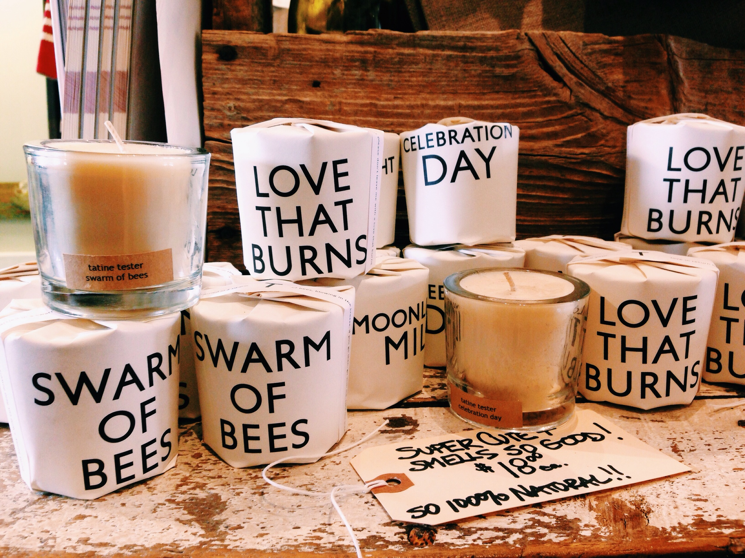 {Some adorable candles that I may have to snatch up for around the house...}