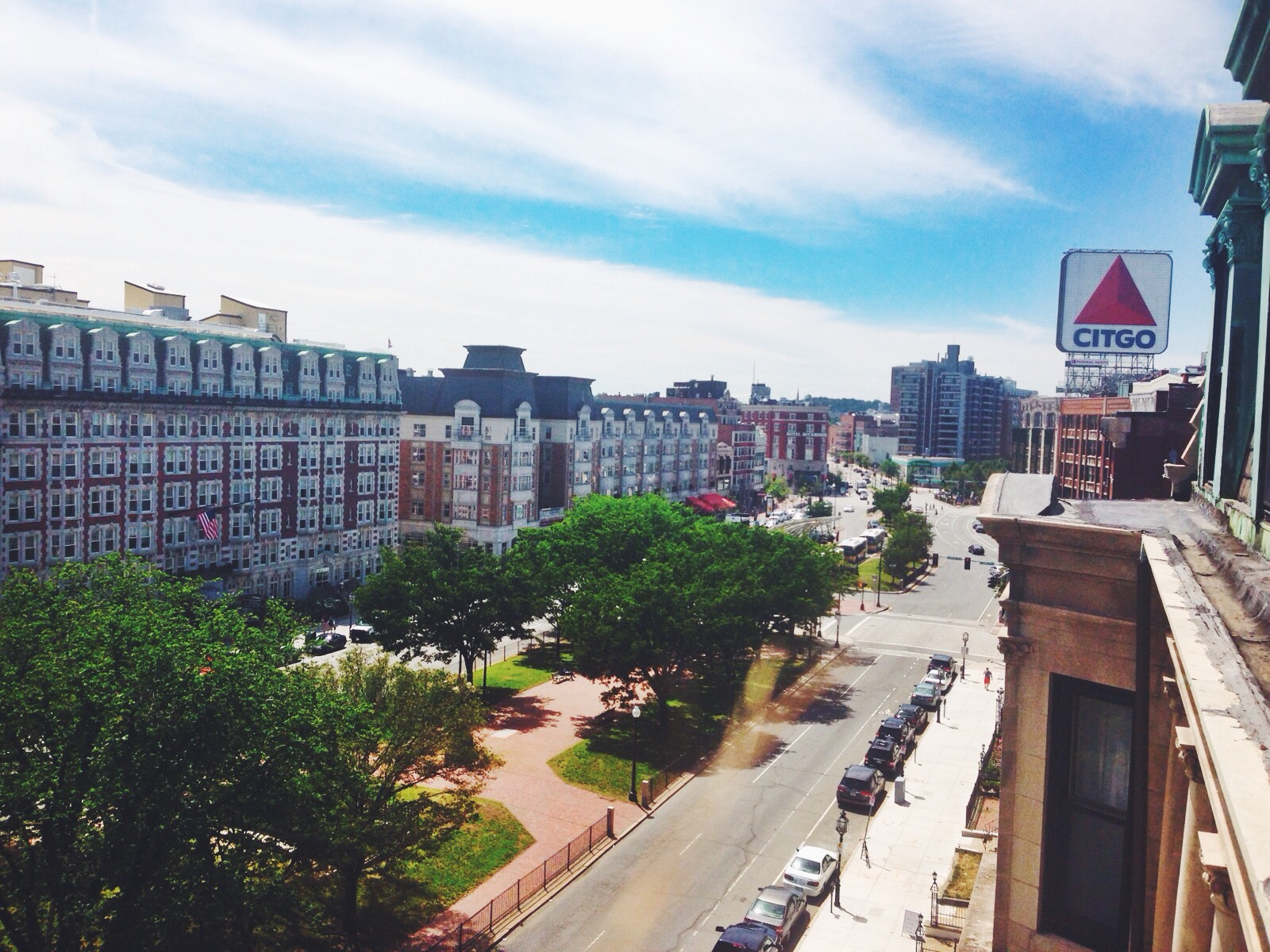 {A friend's lovely rooftop view of the Citgo sign}