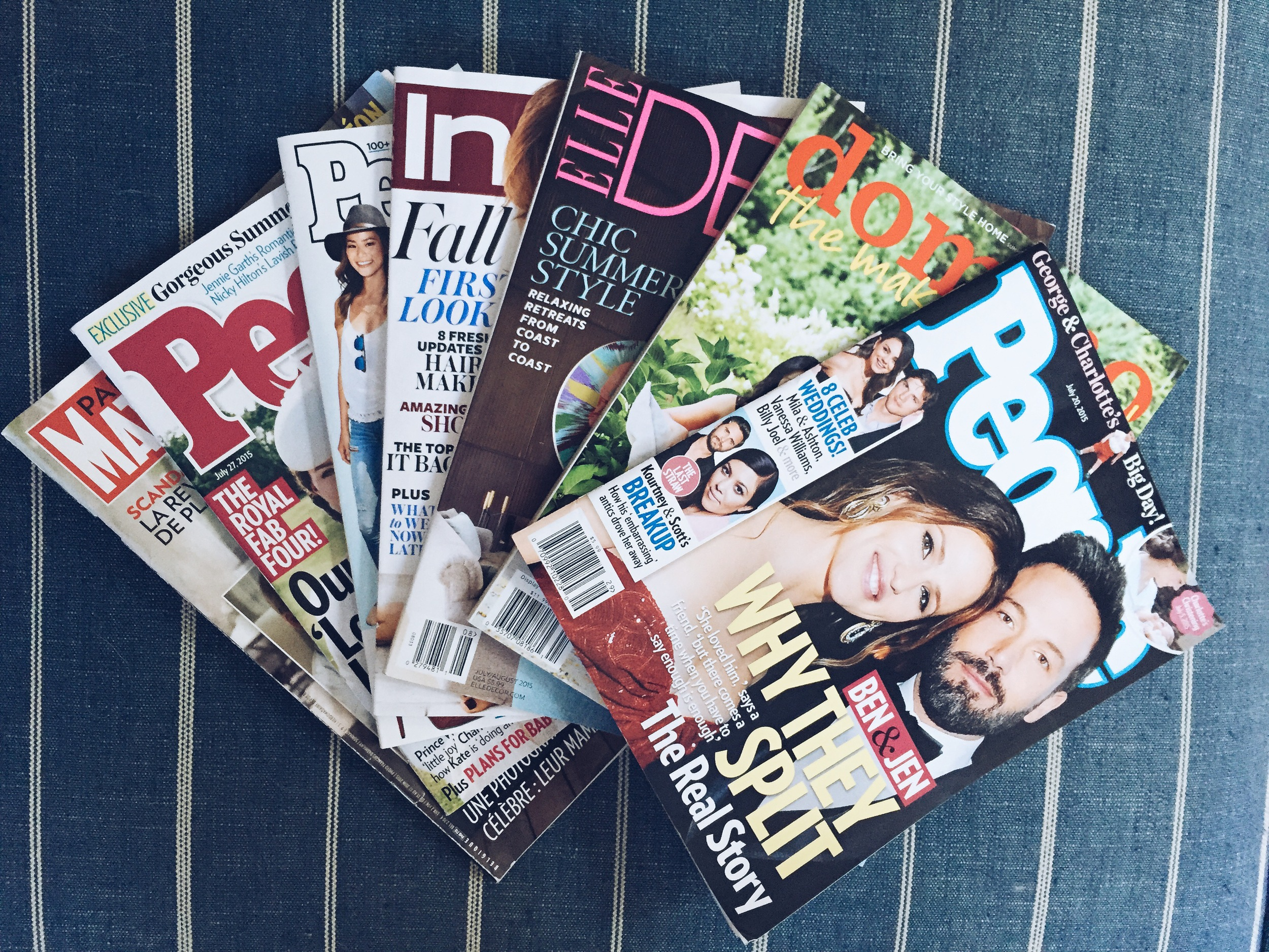 {Lots and lots of magazines to pass the time...}