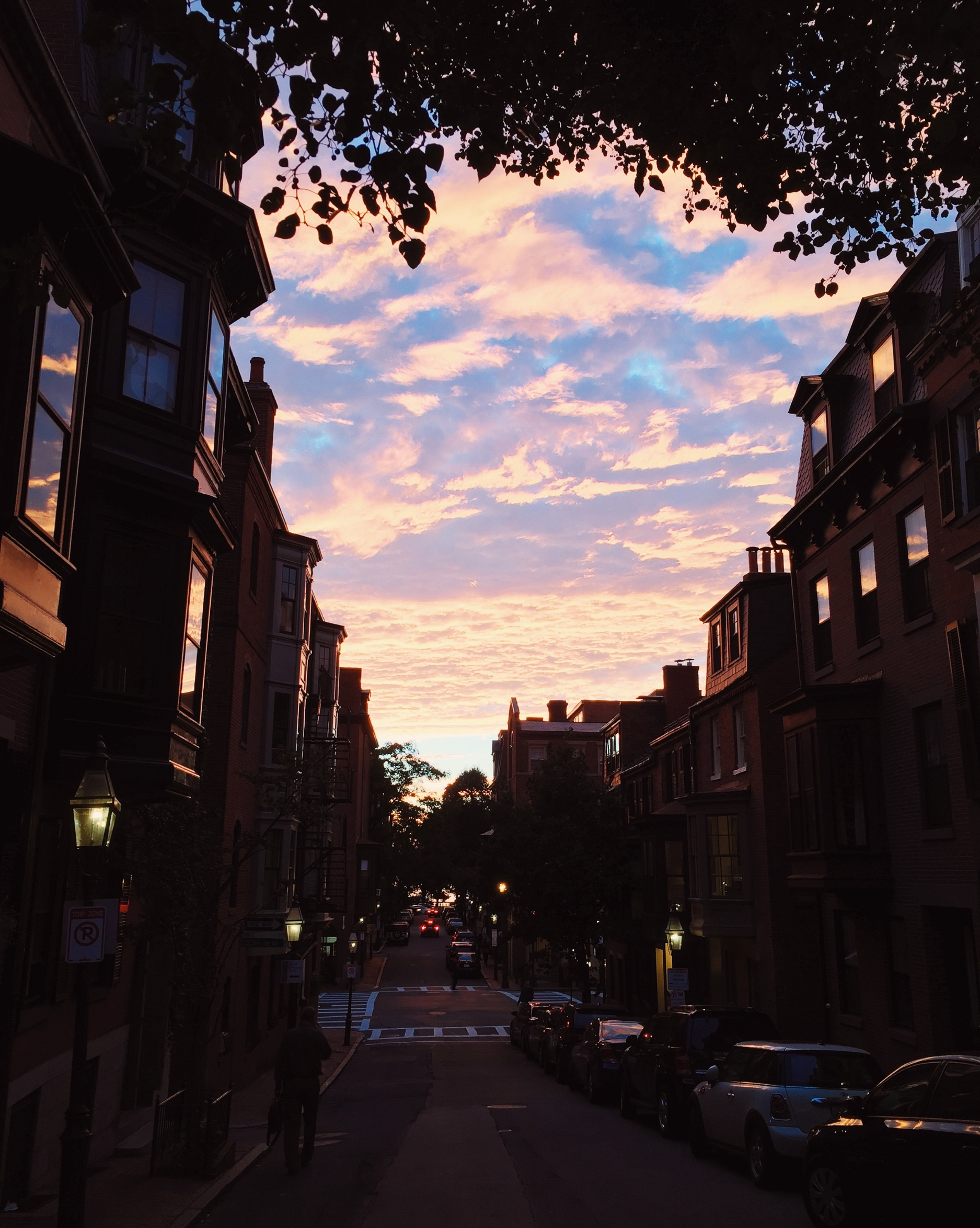 {A beautiful sunset on Beacon Hill}