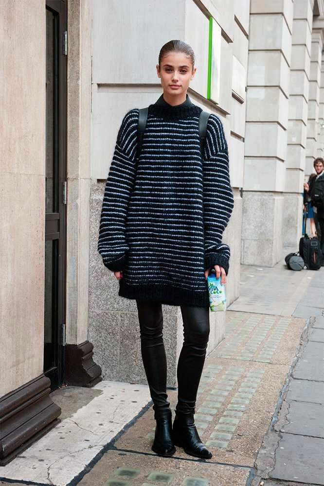 london fashion week-street style-spring 2015-models off duty-front row blog-oversize jumper.jpg