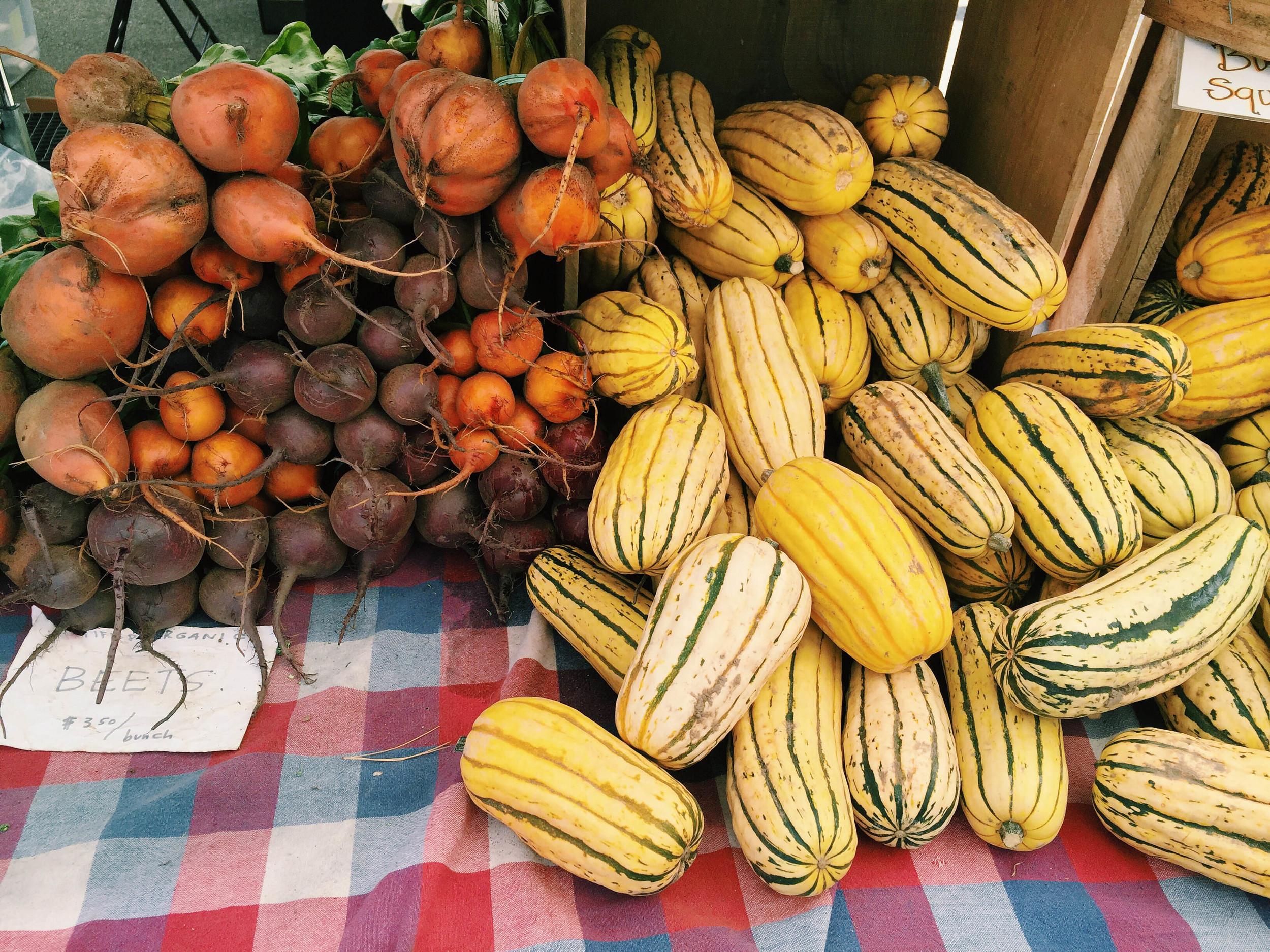 {Some gorgeous veggies at the SoWa farmers market}