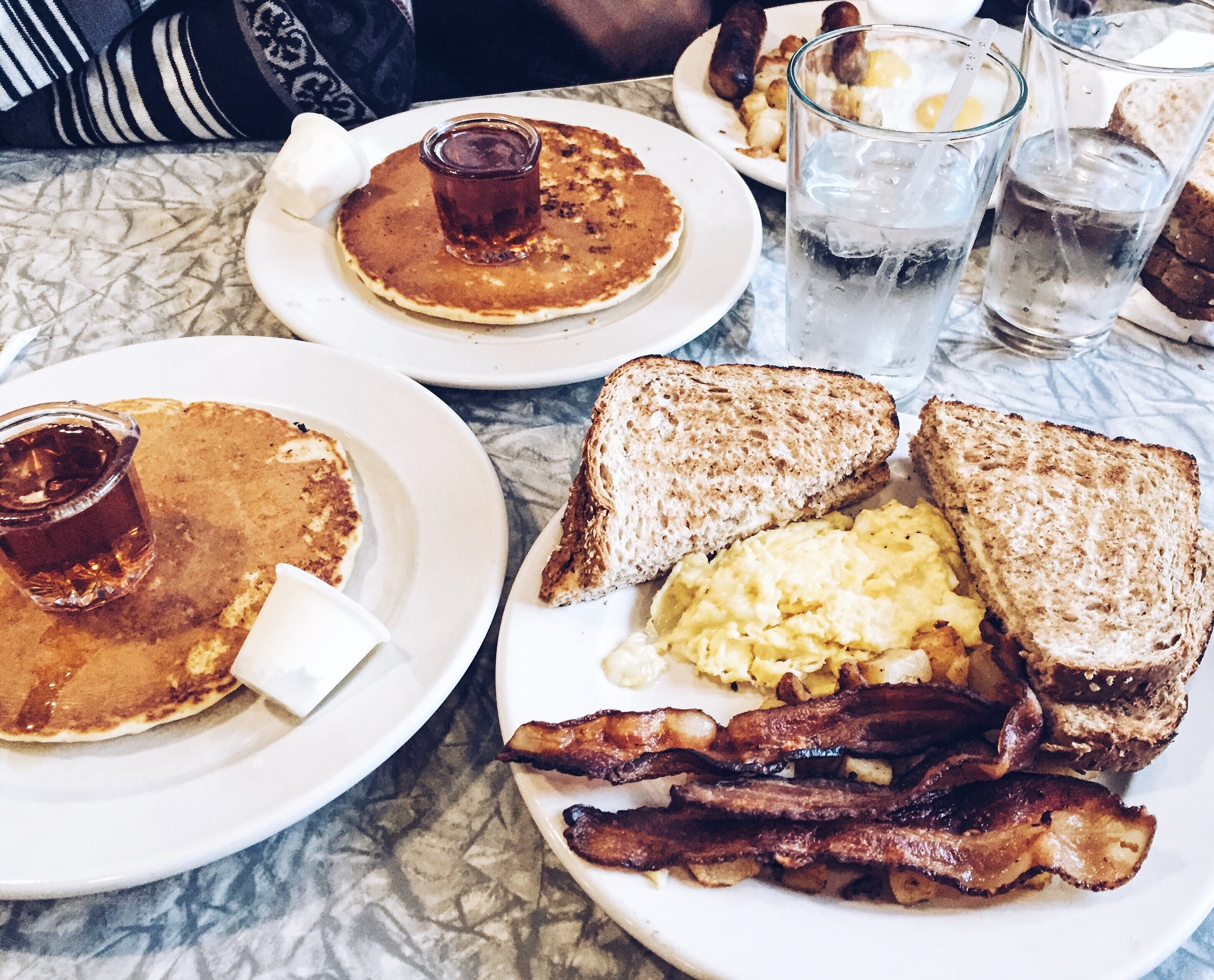 {New Year's breakfast at  Henry's Diner }