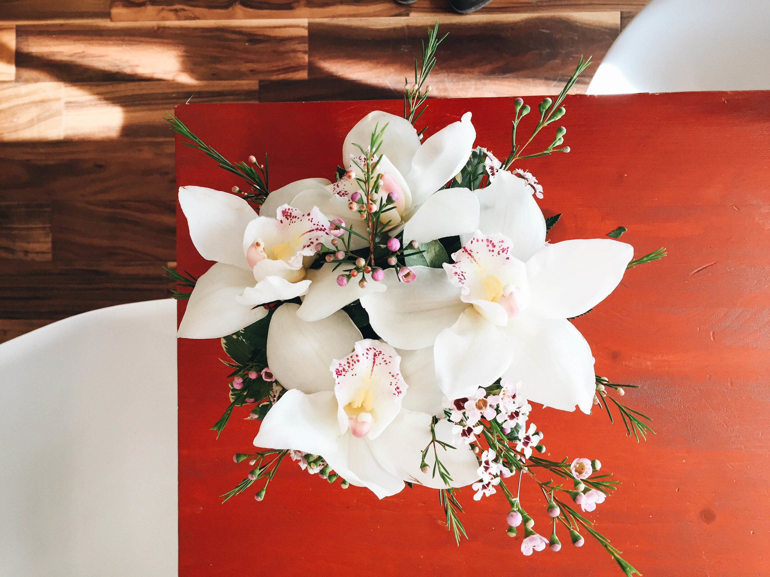 {Beautiful flowers from a special someone on Valentine's day}