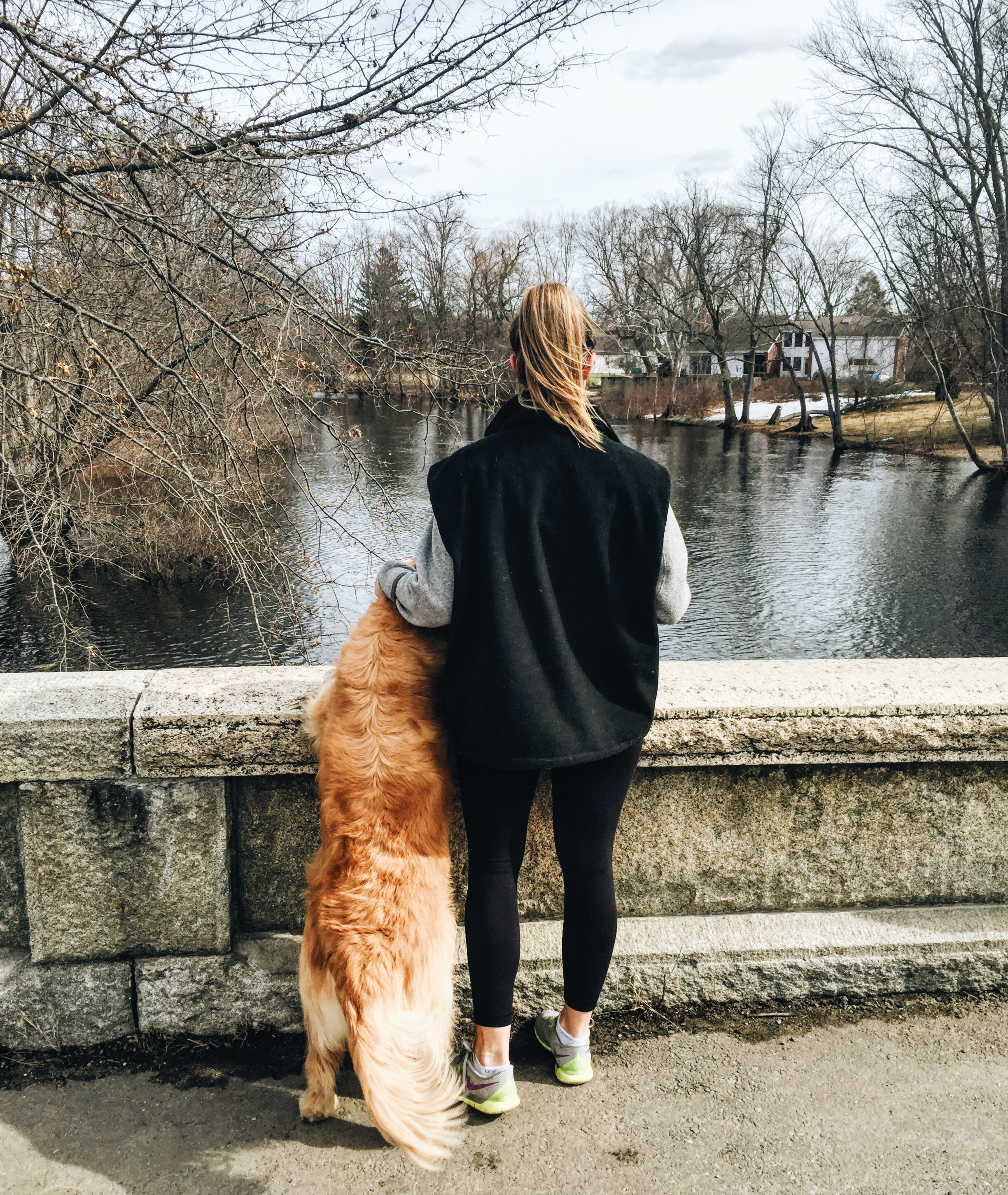 {Two tails on a great walk last weekend. It's starting to feel like spring!}